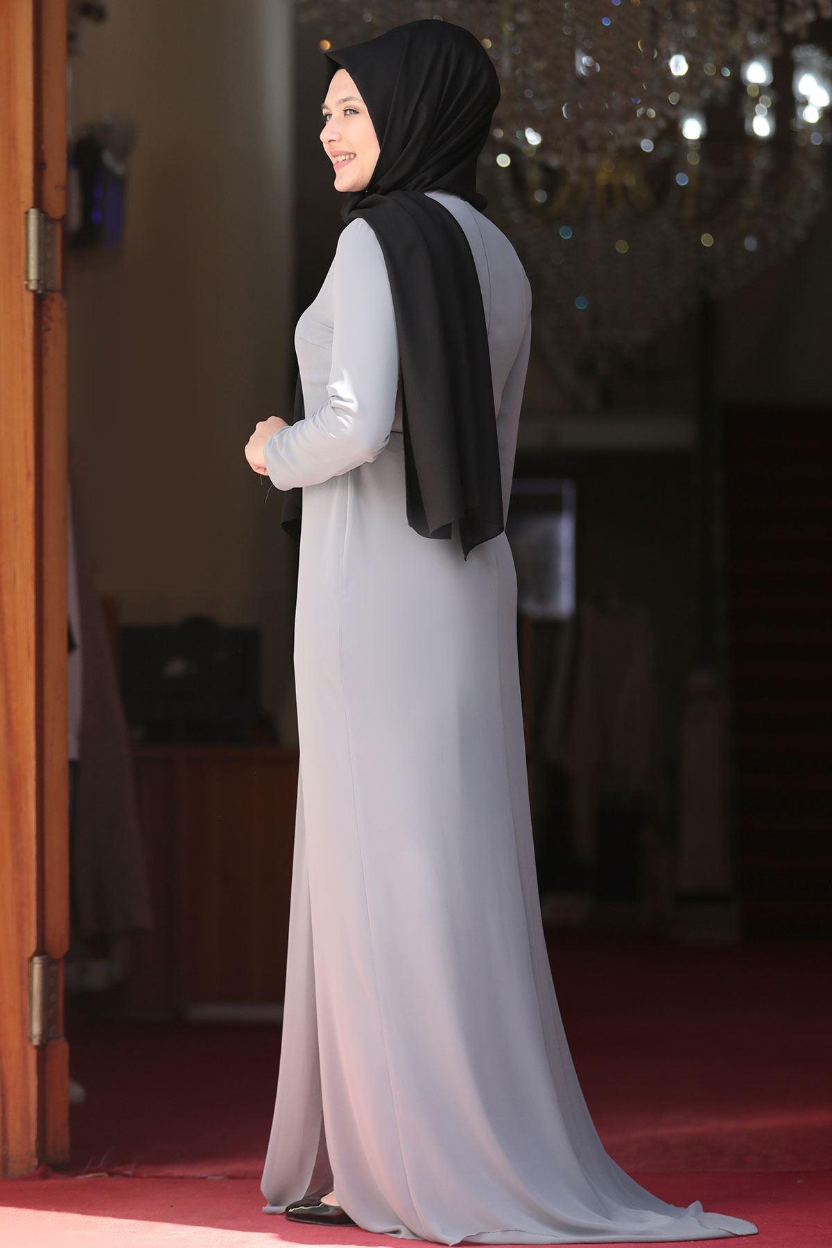 Amine Hüma - Seher Abiye Gri