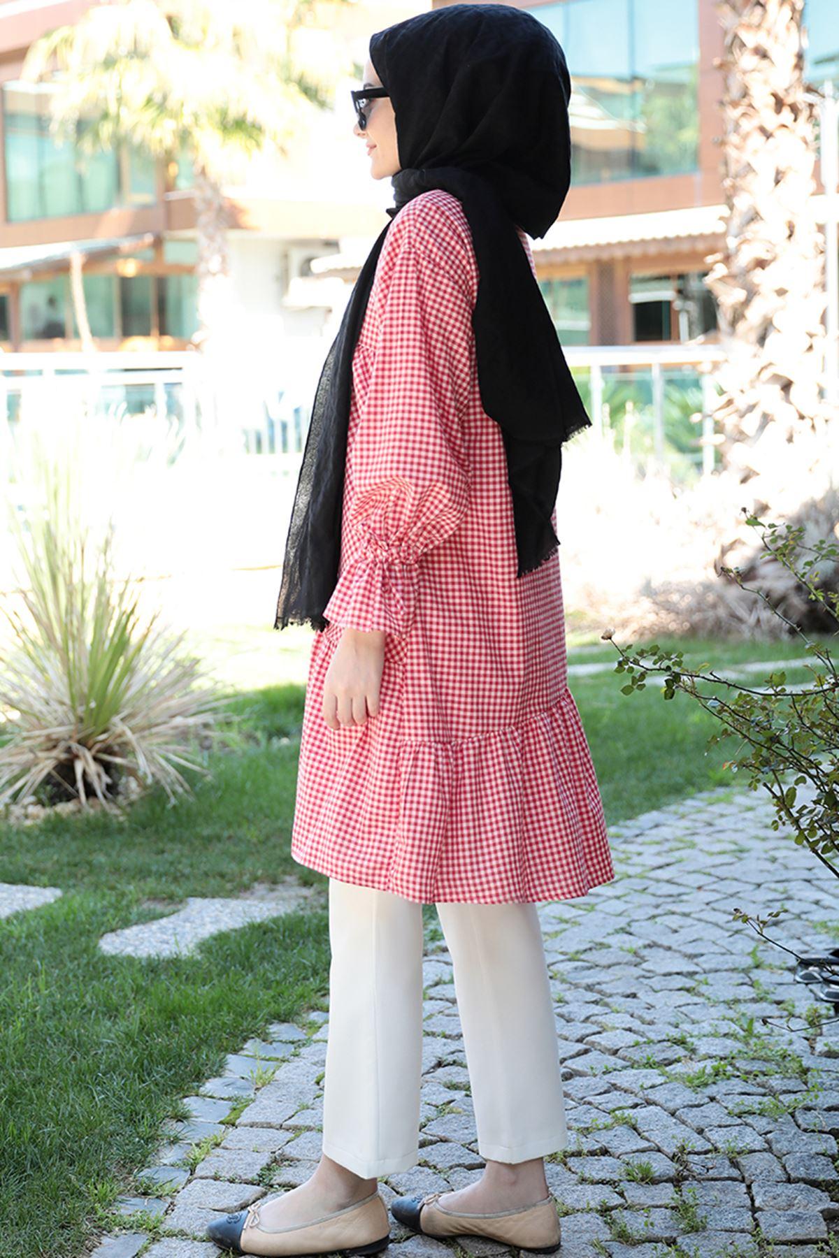 Seda Tiryaki - Maxi Tunik Kırmızı