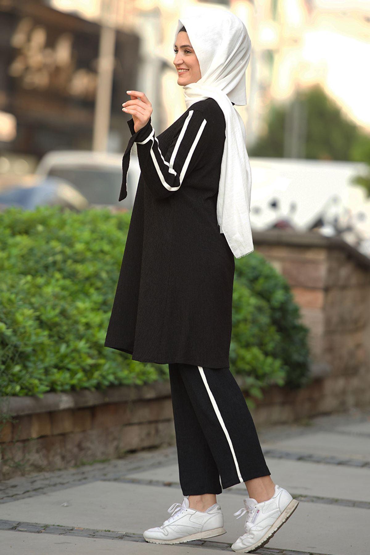 Nurgül Çakır - Sıla İkili Takım Siyah Beyaz