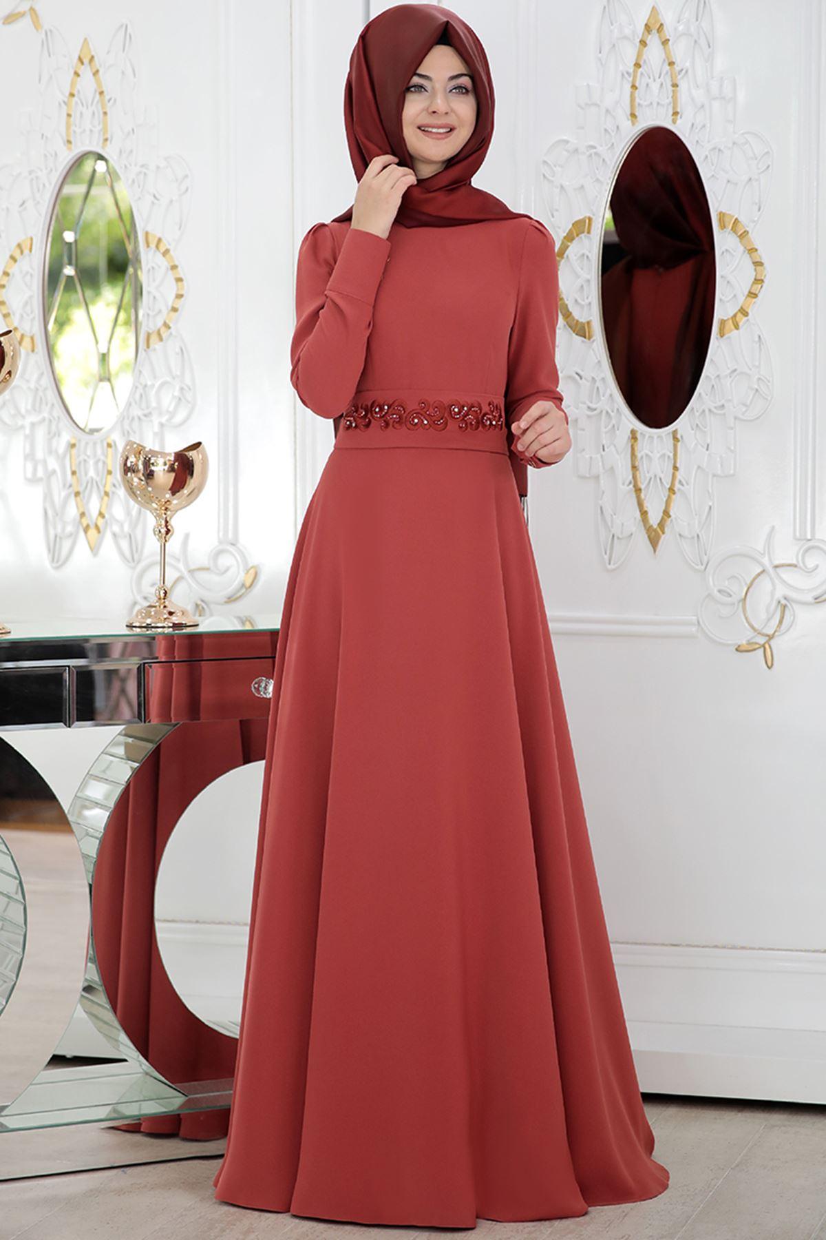 Pınar Şems - Hümay Elbise Kiremit
