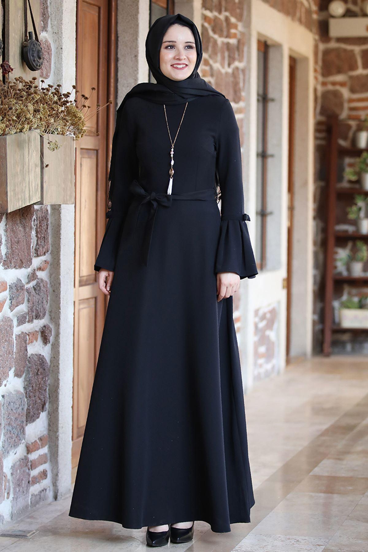 Amine Hüma - Yıldız Elbise Siyah