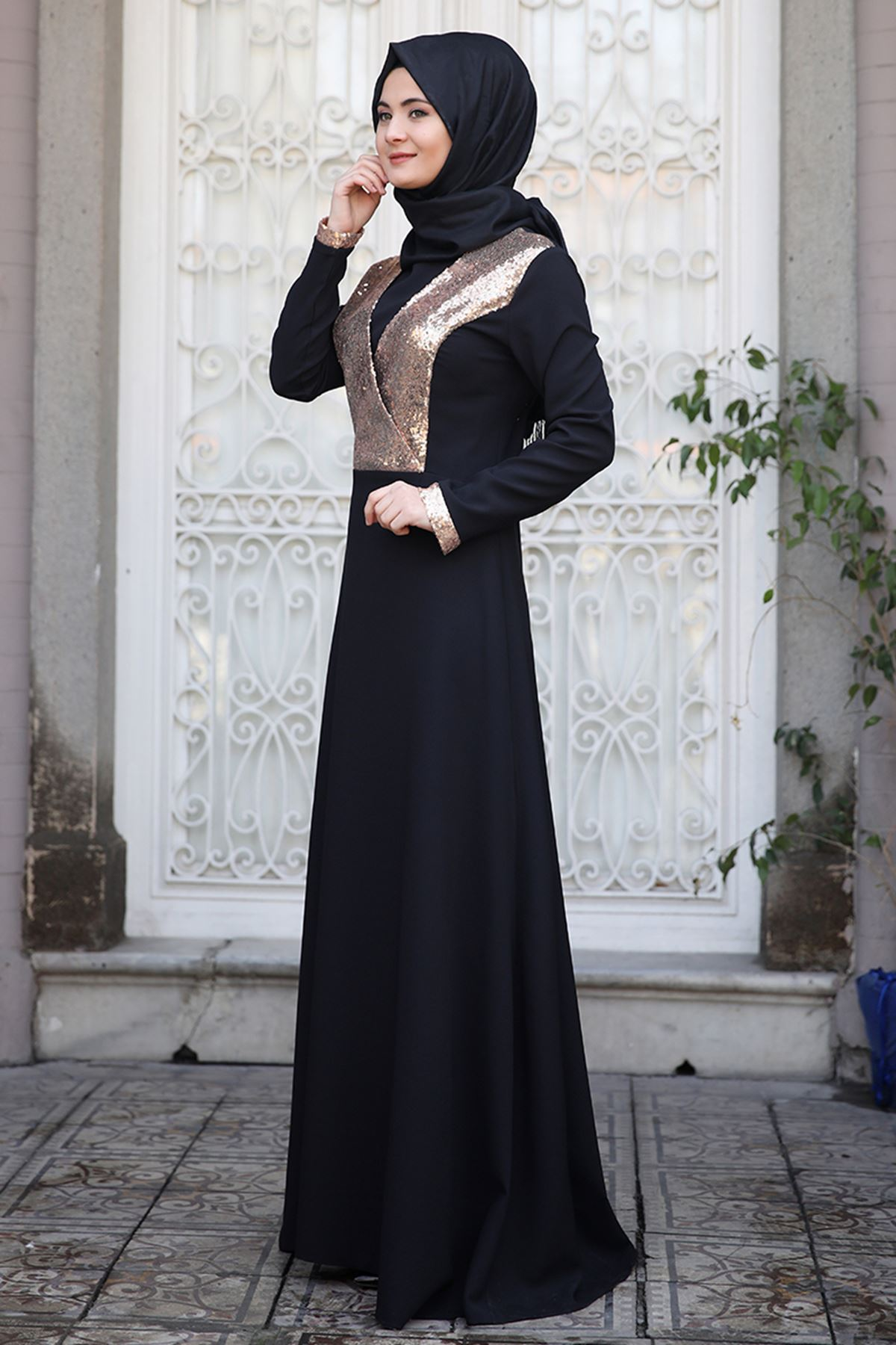 Sümay Gamze Elbise Gold
