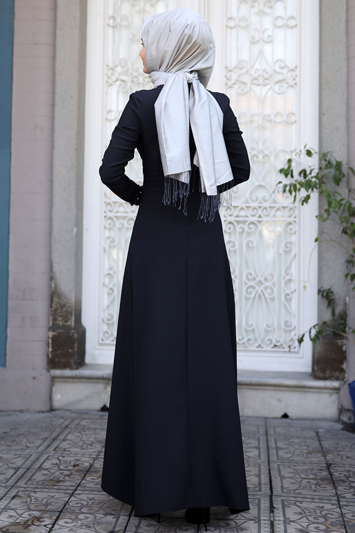 Sümay İnci Elbise Siyah
