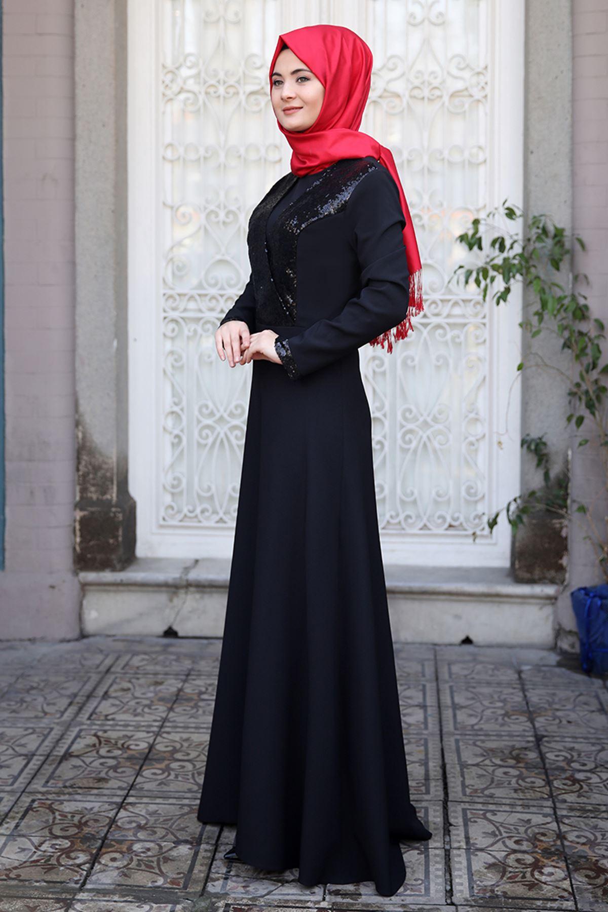 Sümay Gamze Elbise Siyah
