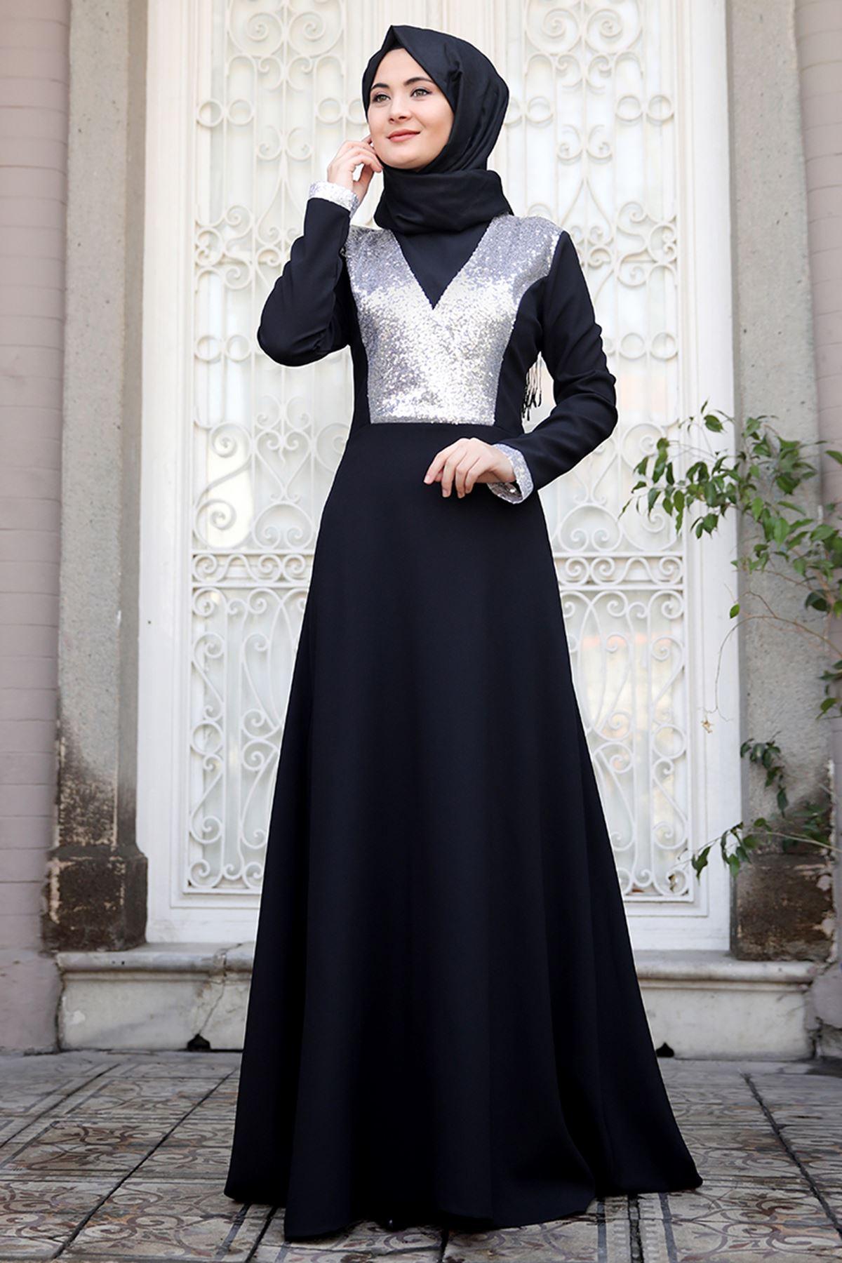 Sümay Gamze Elbise Gümüş