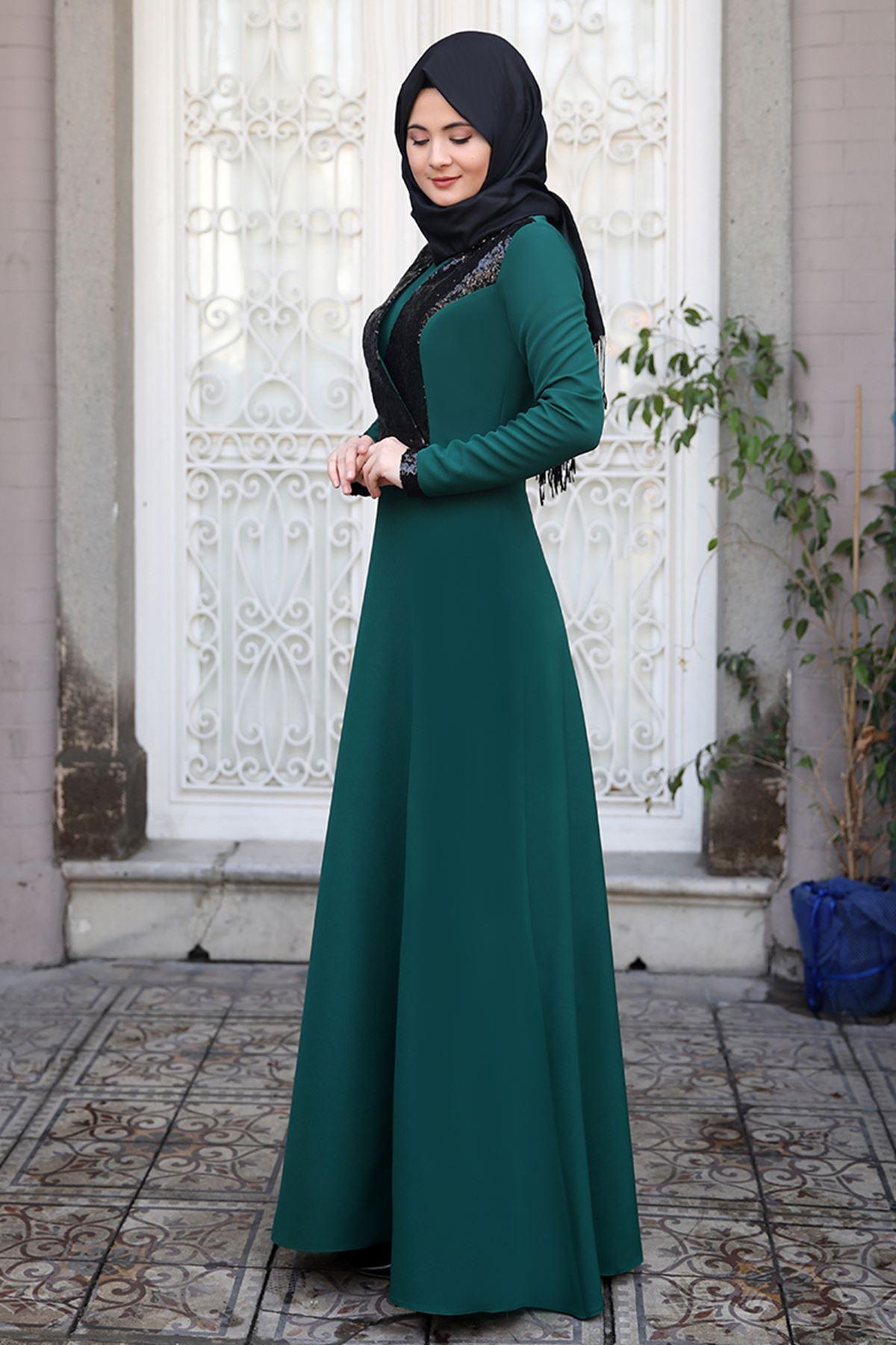 Sümay Gamze Elbise Zümrüt
