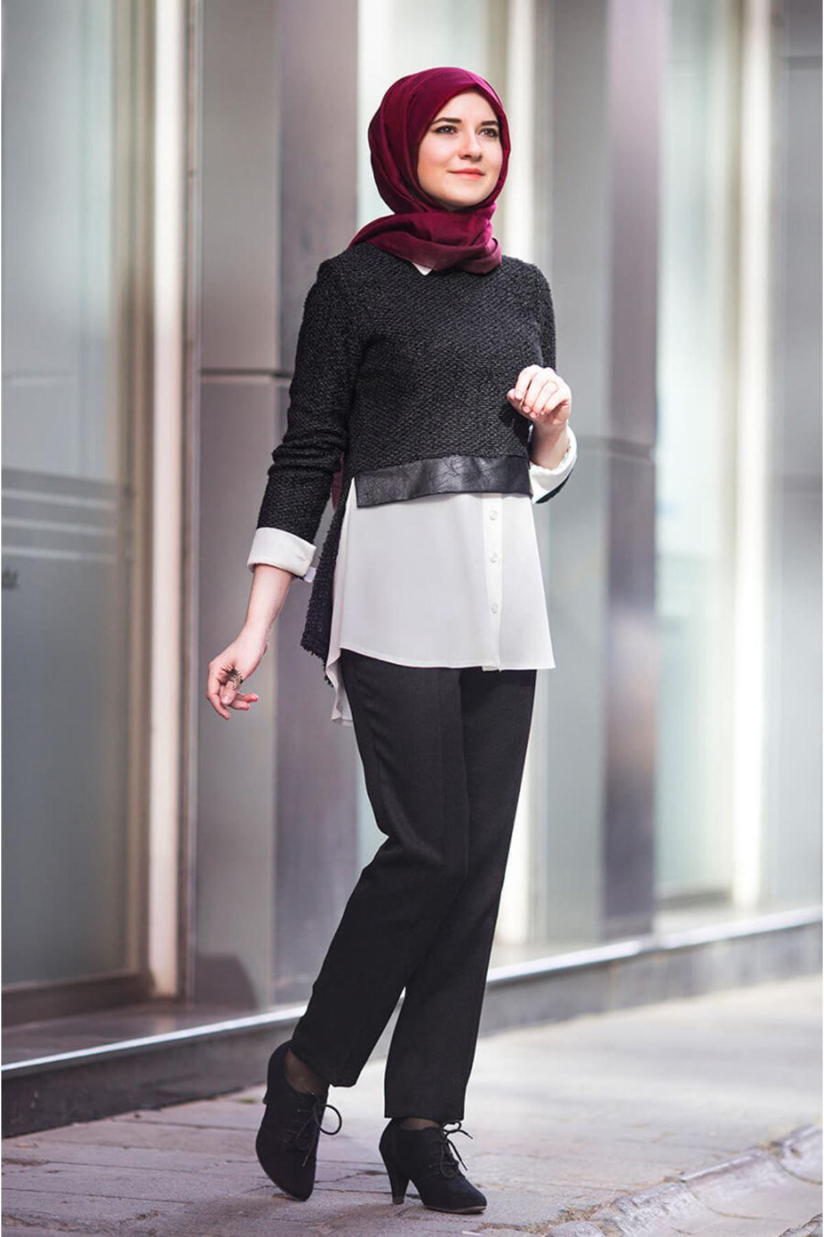 An Nahar Ayça Gömlek - Siyah