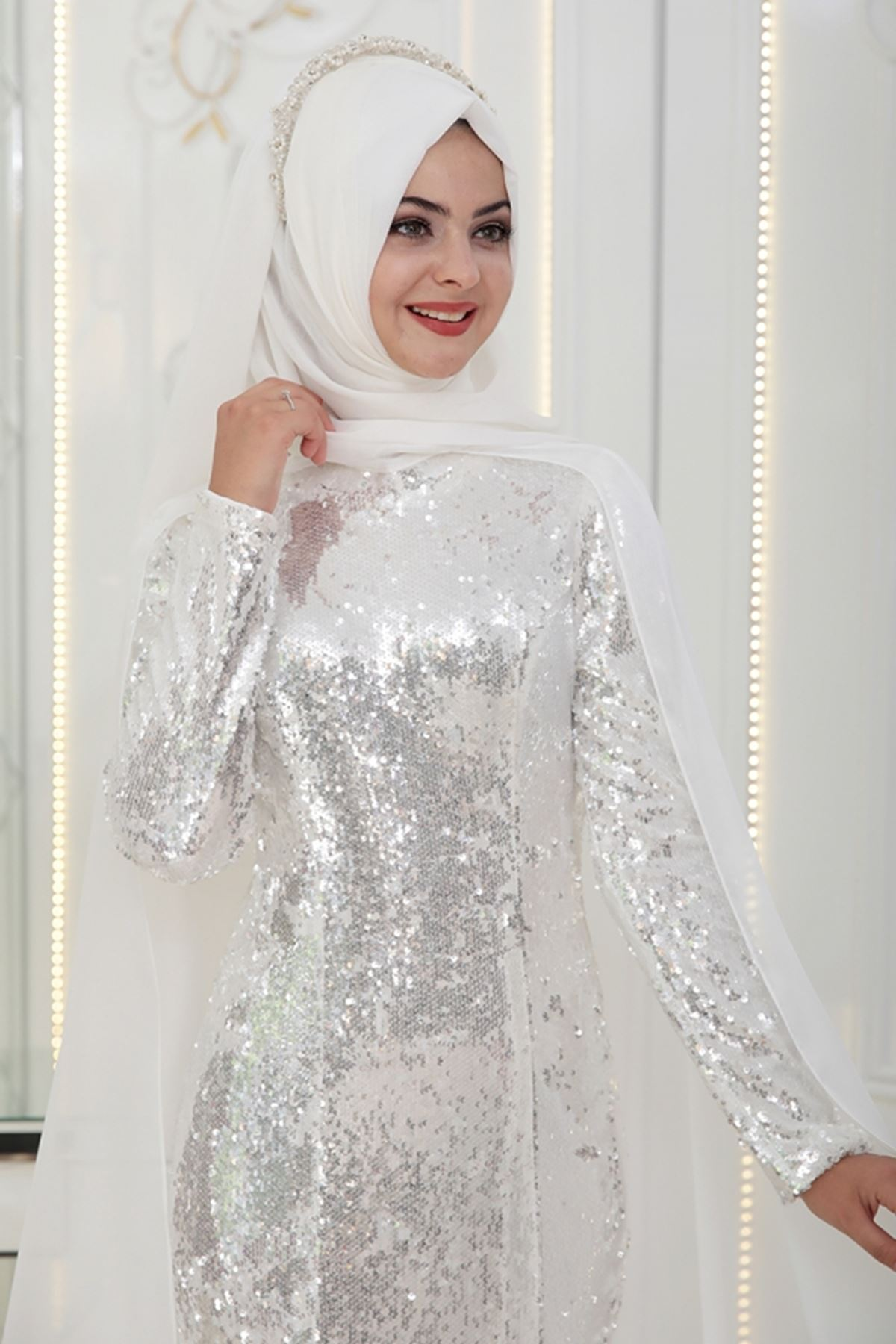 Pınar Şems - Günyeni Abiye Ekru