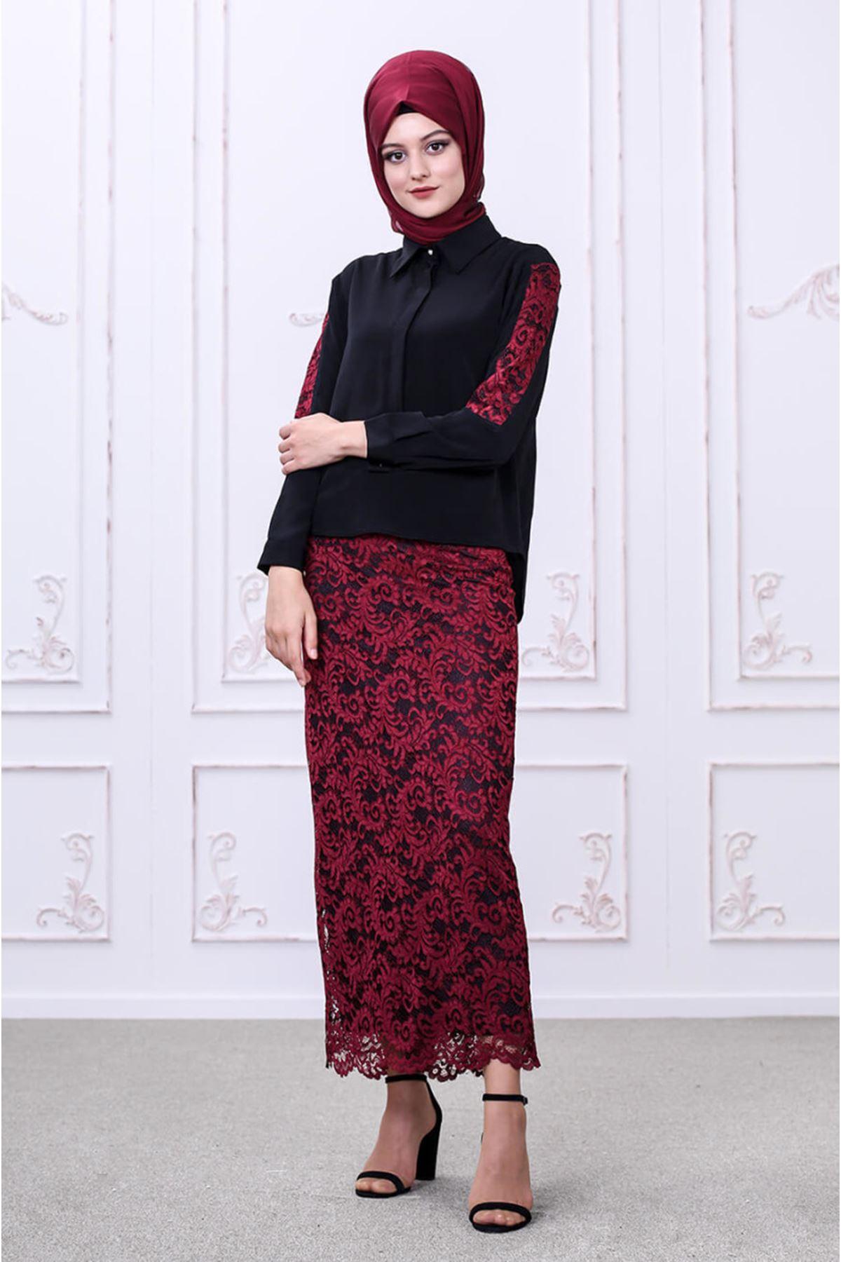 Som Fashion Etek Bluz Takım - Siyah