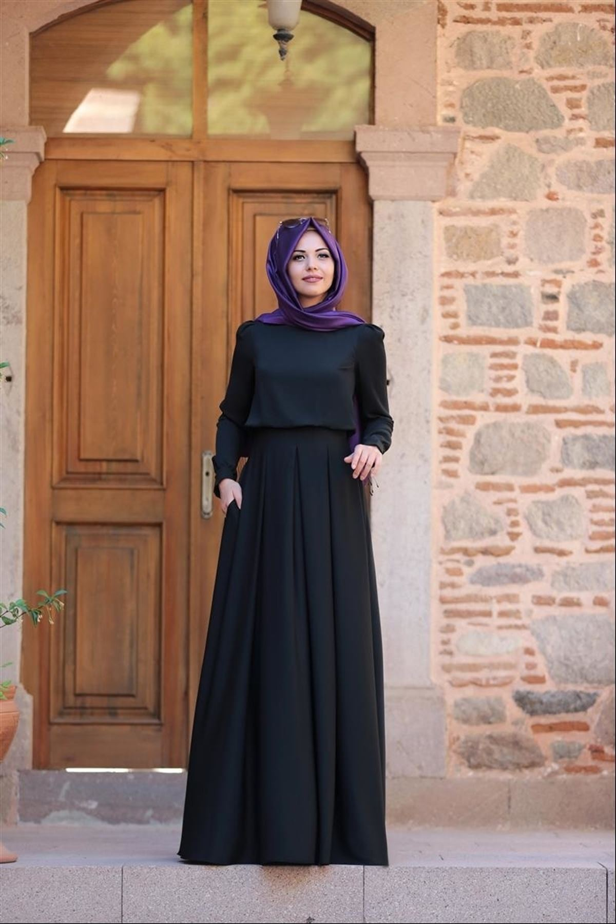 An Nahar Gülce Elbise - Siyah
