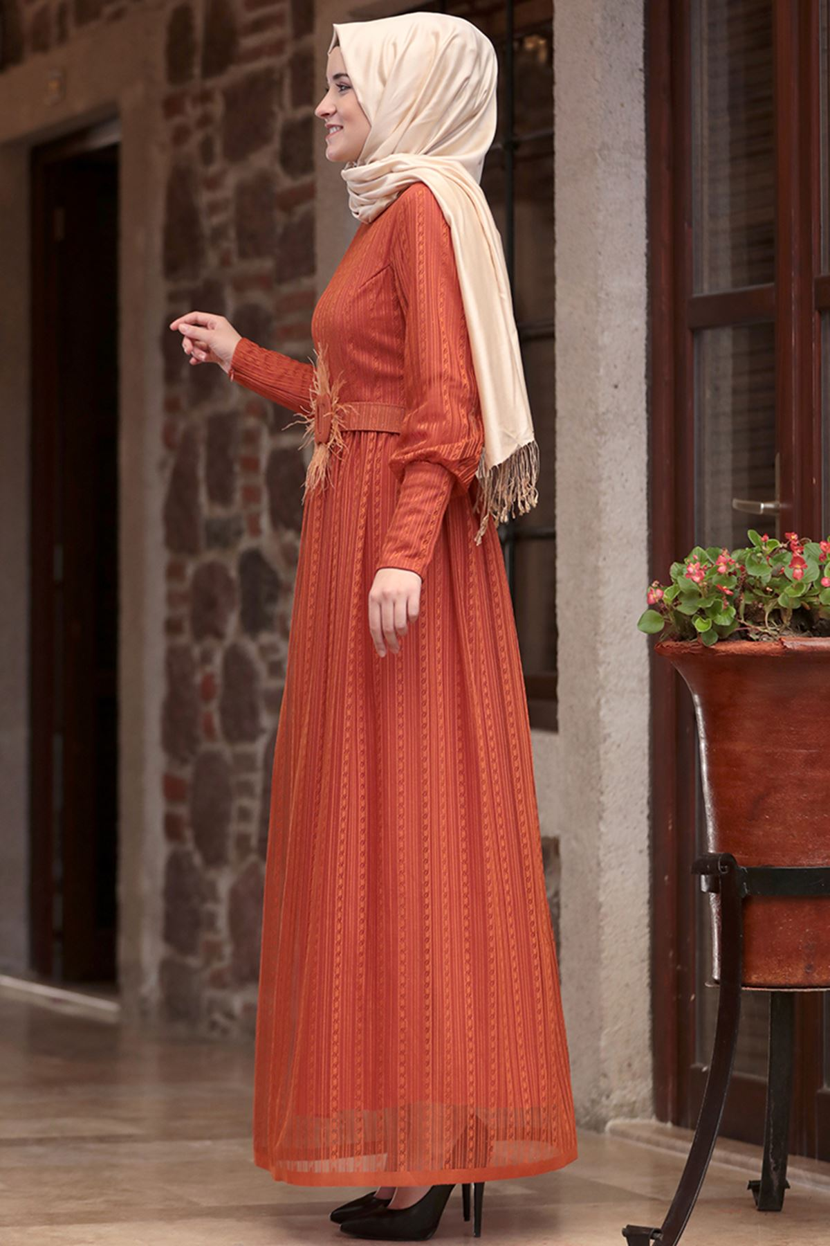 Amine Hüma - Ceylan Elbise Kiremit