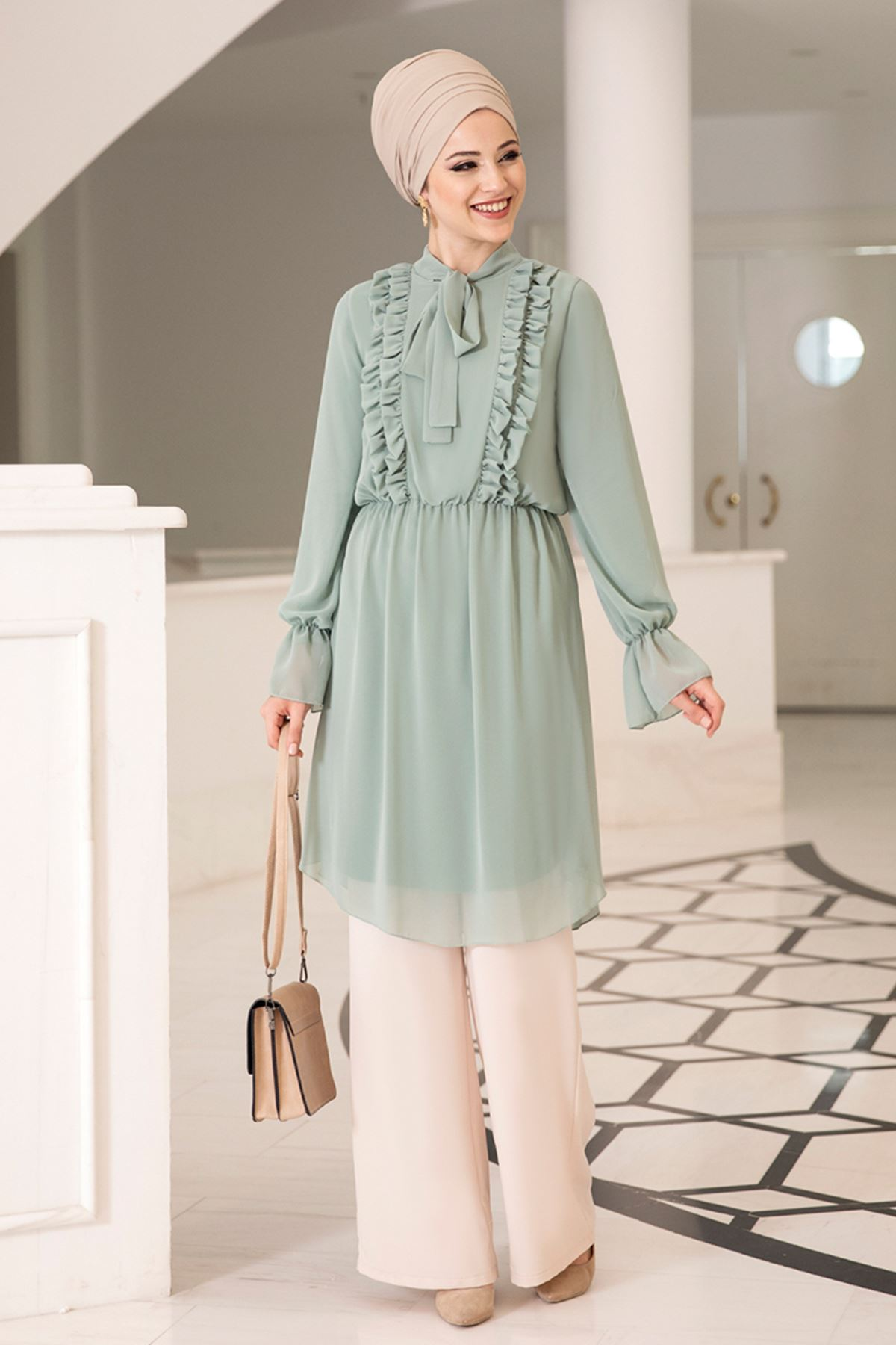 Dresslife - Love Tunik Mint Yeşili