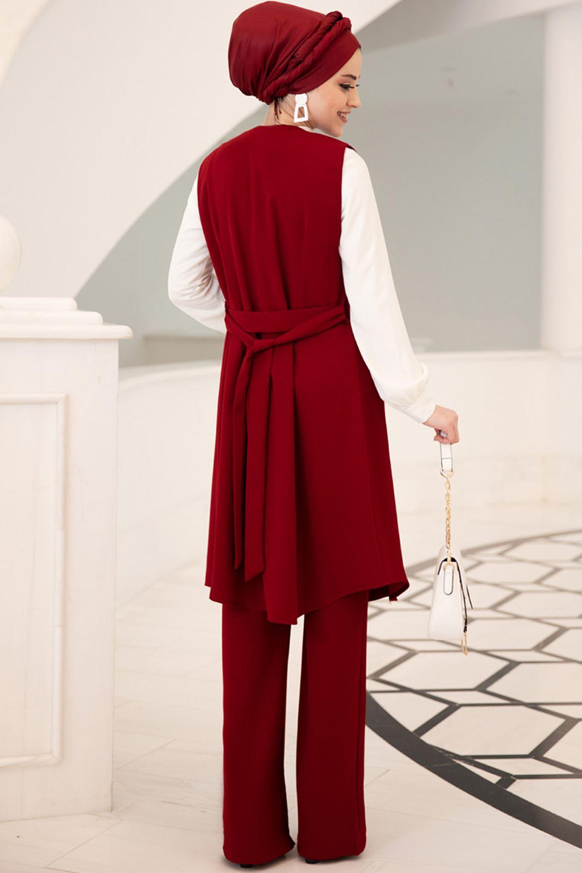 Dresslife  Elit Üçlü Takım Bordo DRE2005