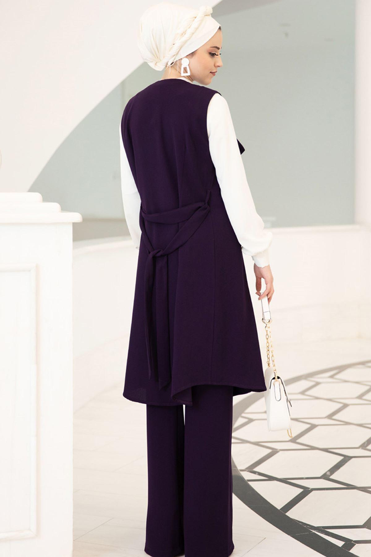 Dresslife - Elit Üçlü Takım Mor
