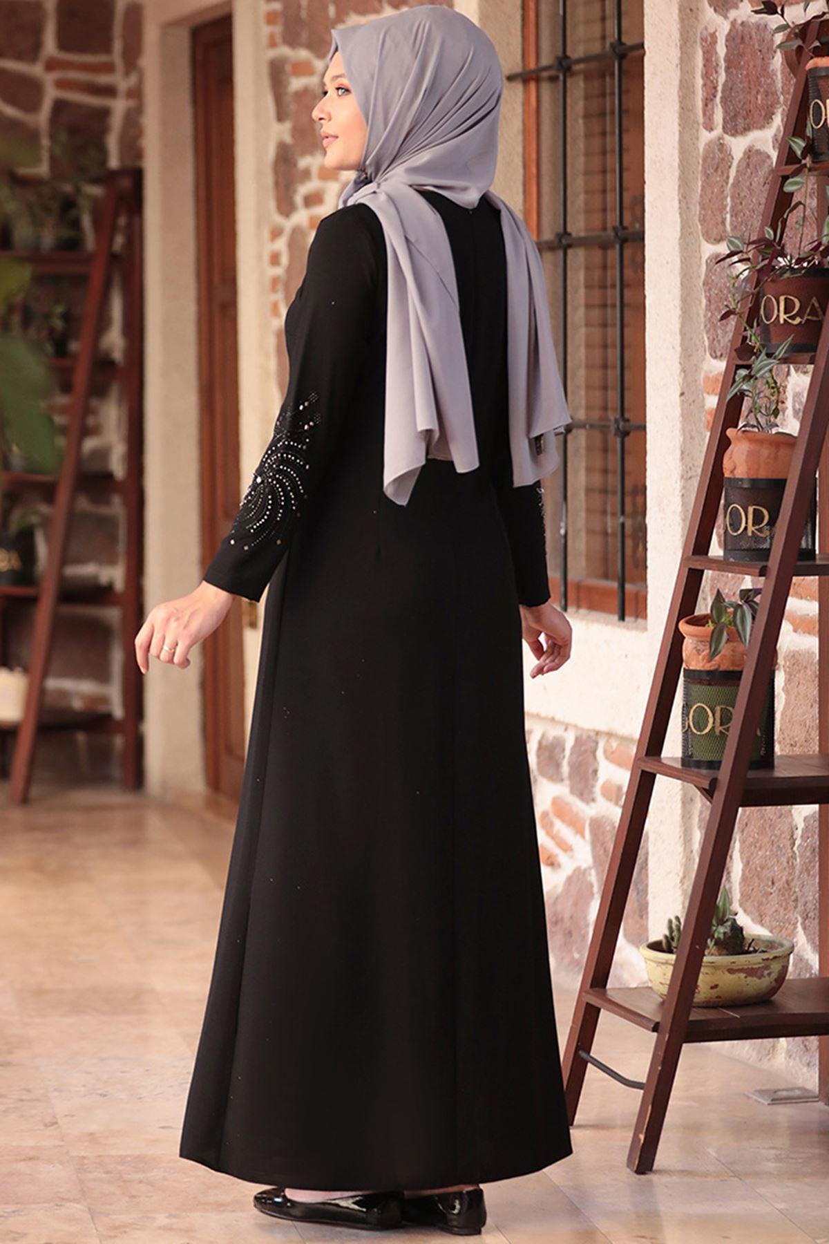 Amine Hüma - Sema Elbise Siyah AMİ1034