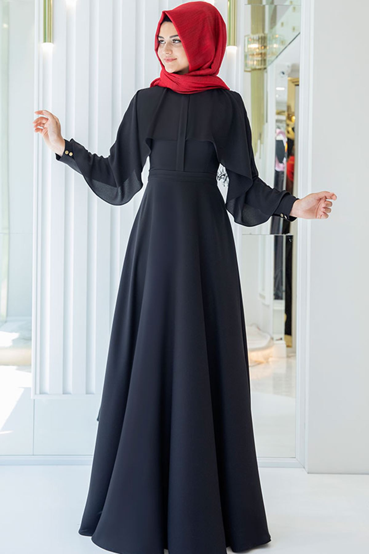 Pınar Şems Hilal Elbise Siyah