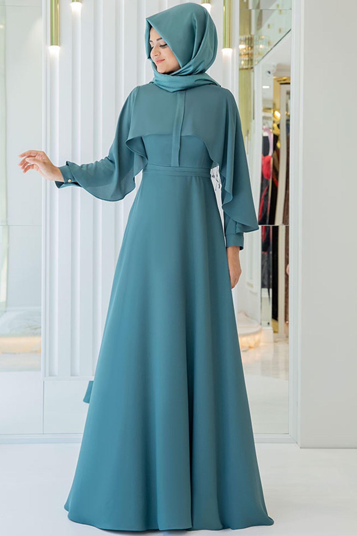 Pınar Şems Hilal Elbise Mint Yeşili
