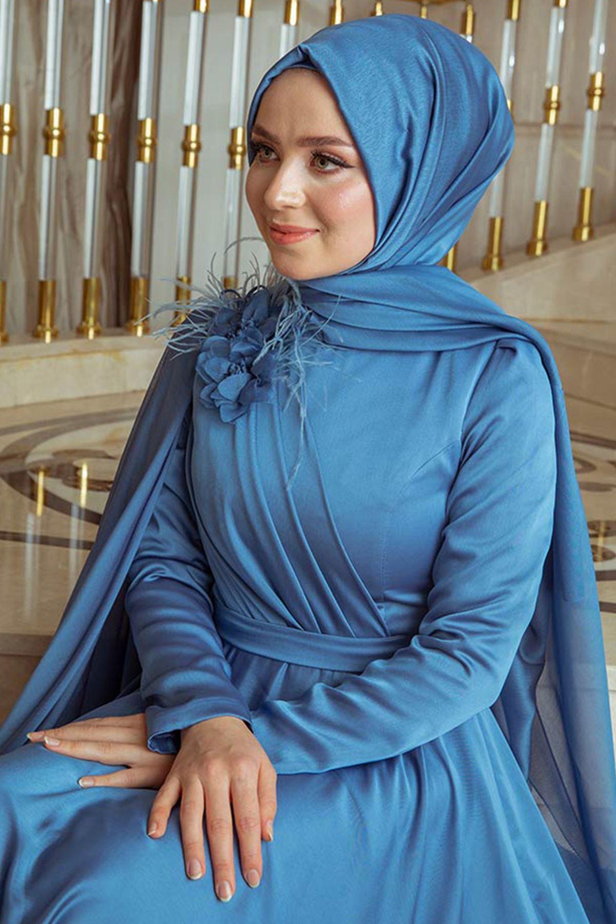 Pınar Şems Yaren Abiye İndigo