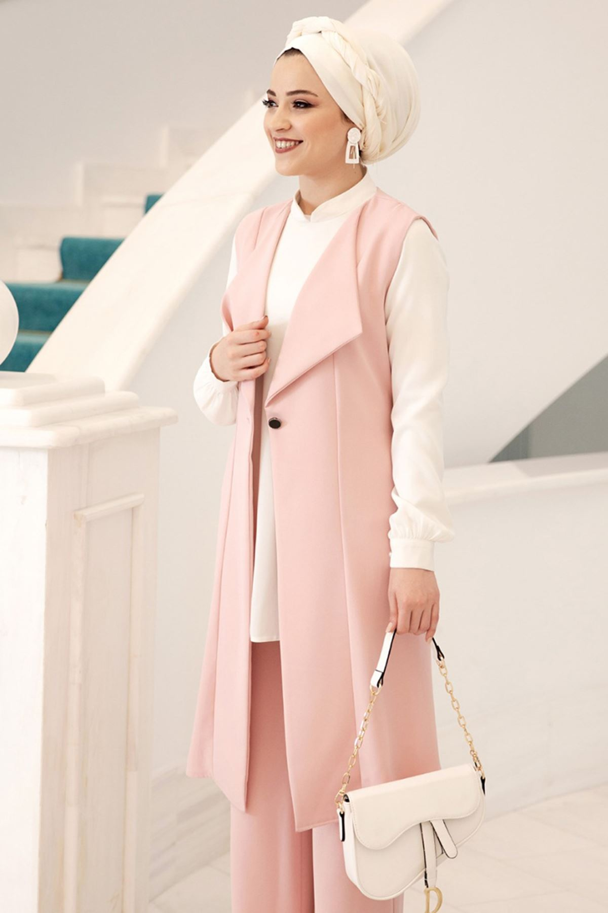 Dresslife - Elit Üçlü Takım Pudra