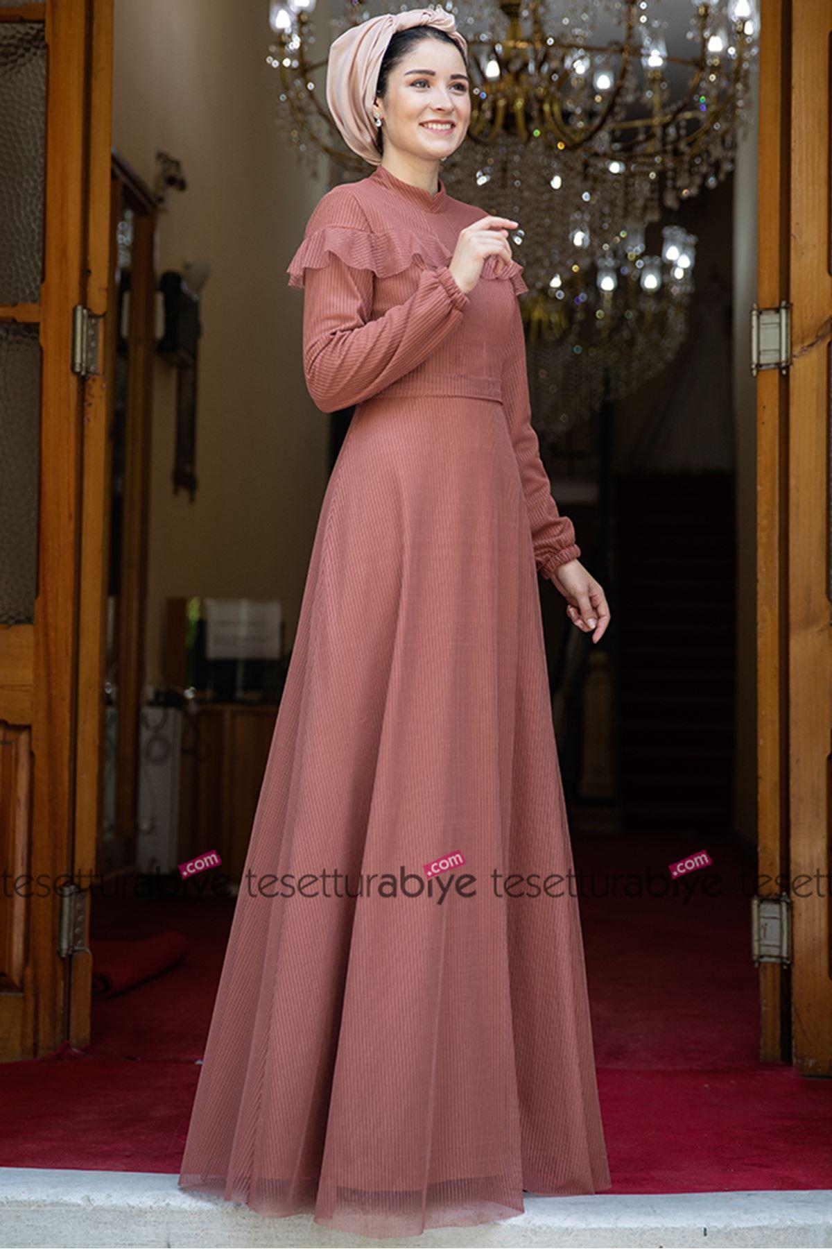 Burak Baran Fashion Nisa Abiye Gül Kurusu BUR6700