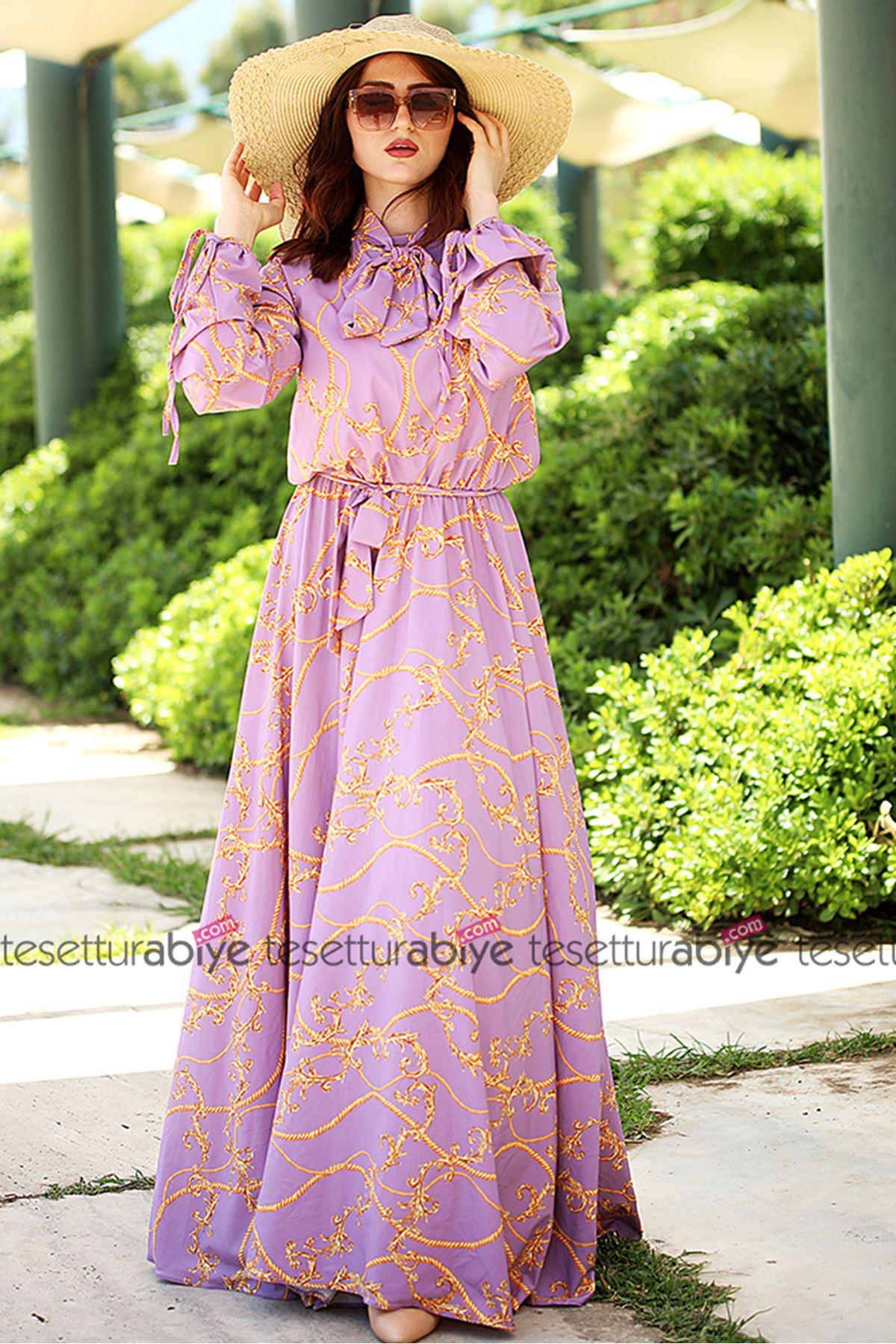 Halat Elbise Lila