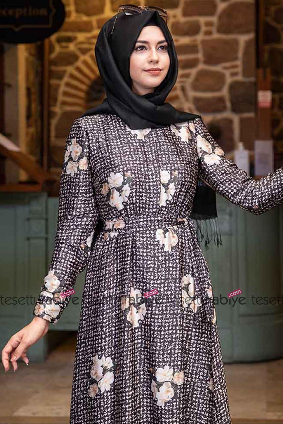 Pınar Şems Aksa Elbise Krem PNR6015