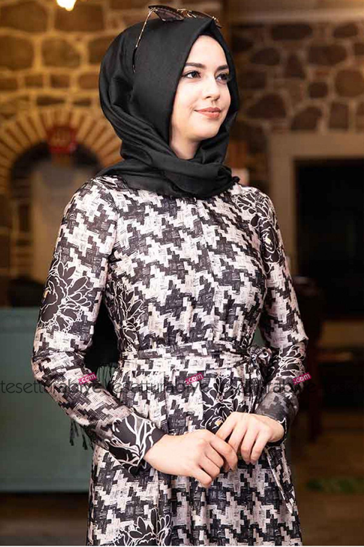 Pınar Şems Aksa Elbise Siyah PNR6015