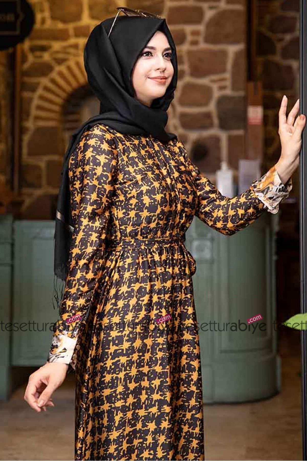 Pınar Şems Aksa Elbise Sarı PNR6015