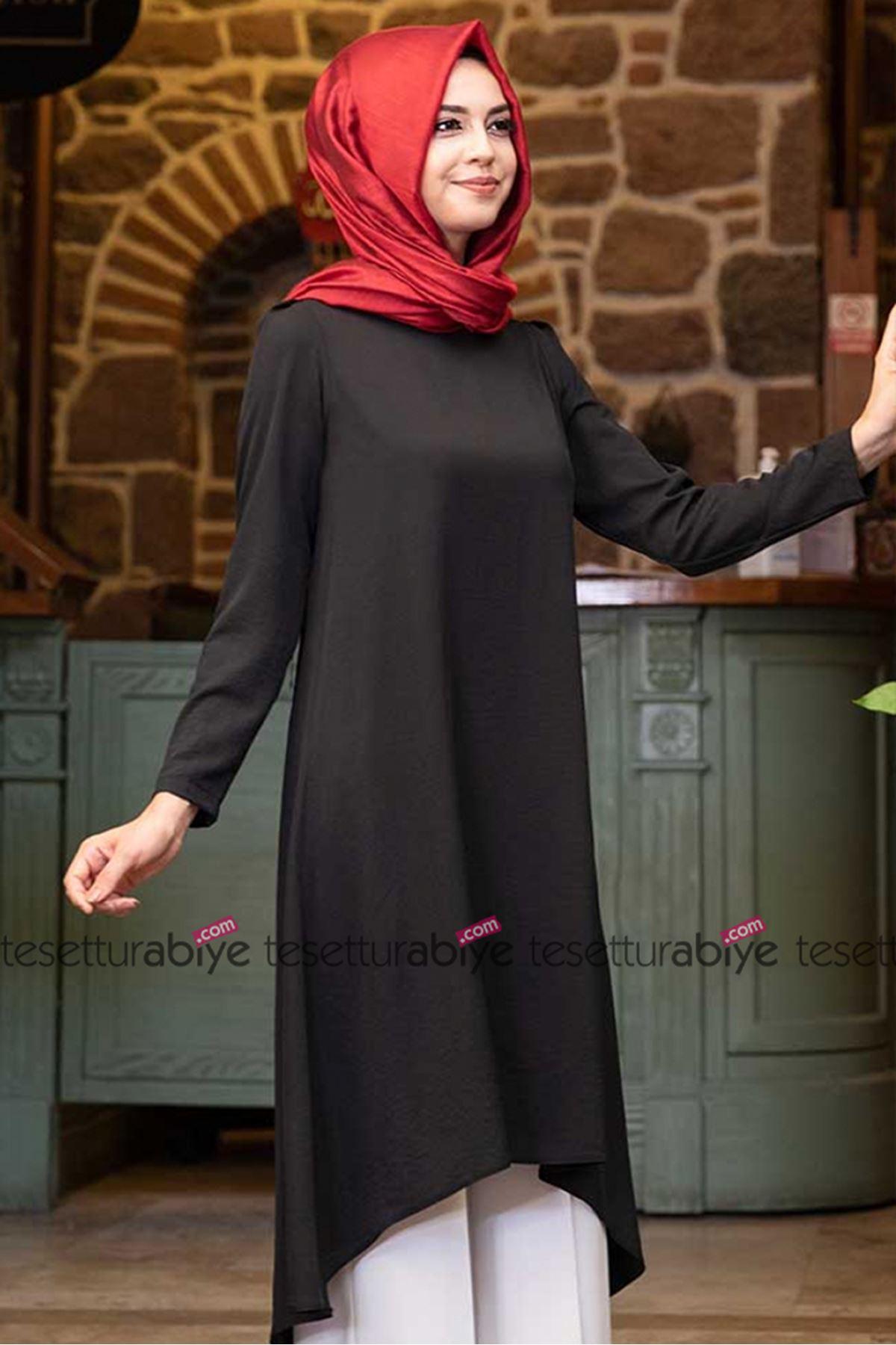 Pınar Şems Filiz Tunik Siyah PNR6016
