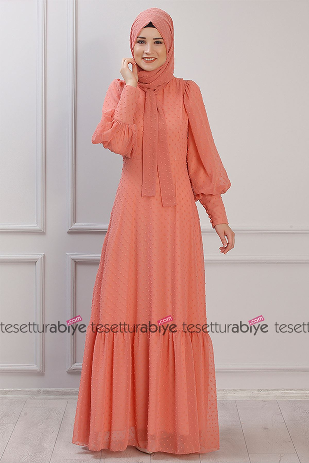 Işıl Elbise  Somon