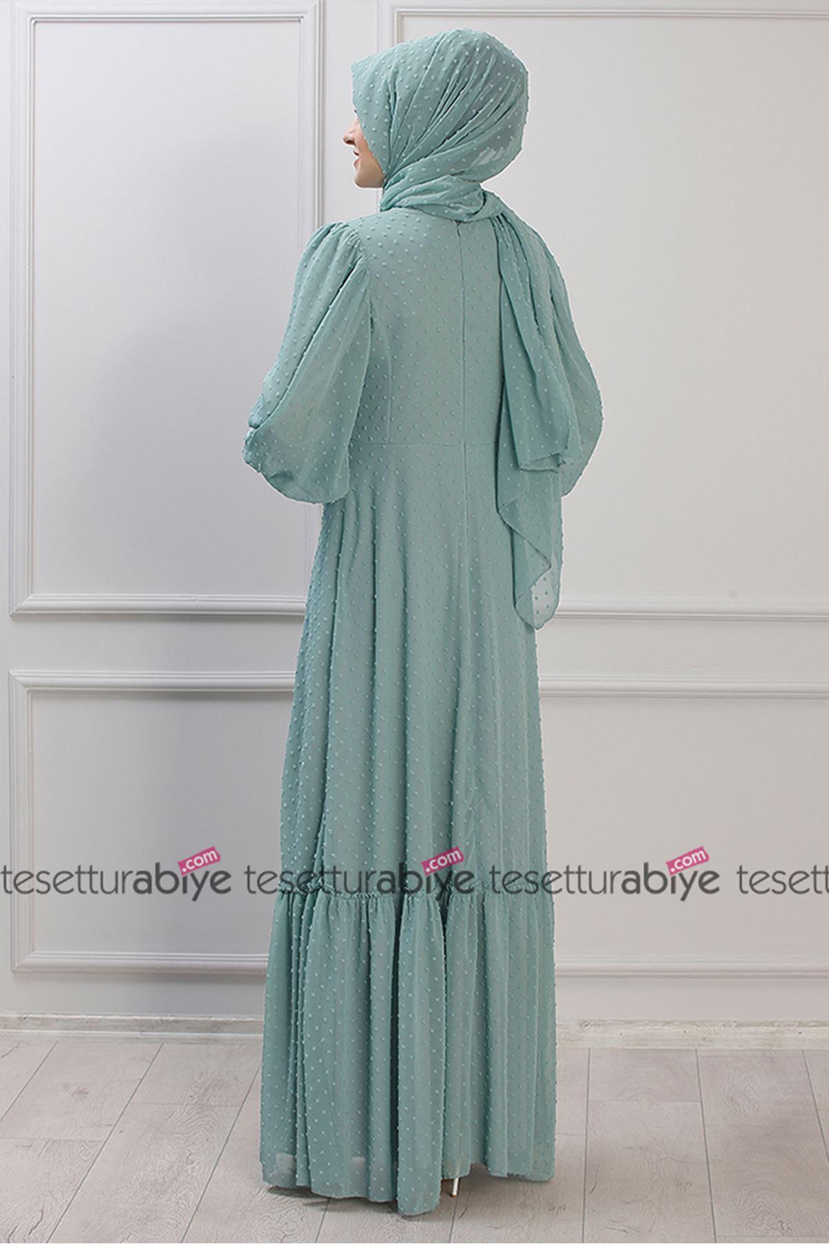 Işıl Elbise  Mint Yeşili