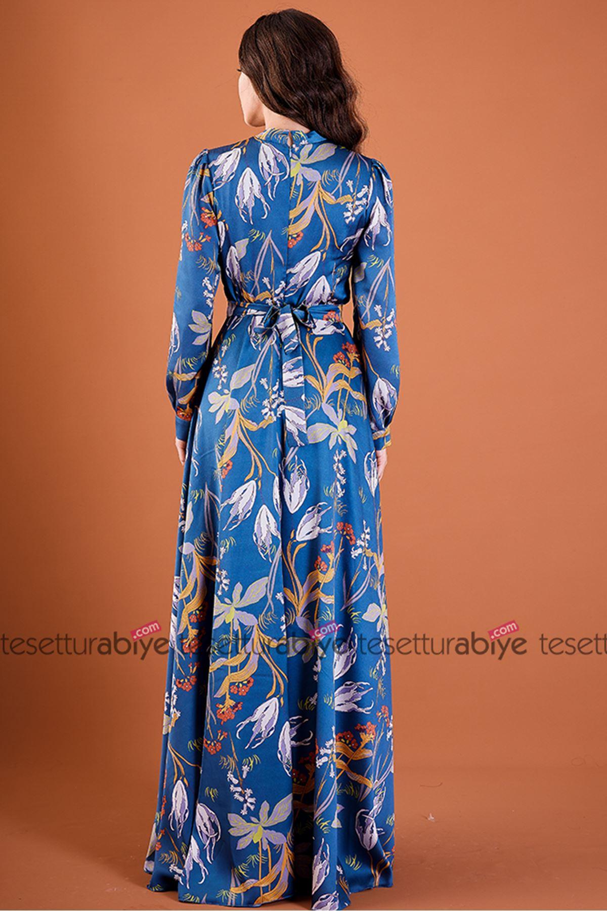 Sümbül Elbise Bebe Mavi
