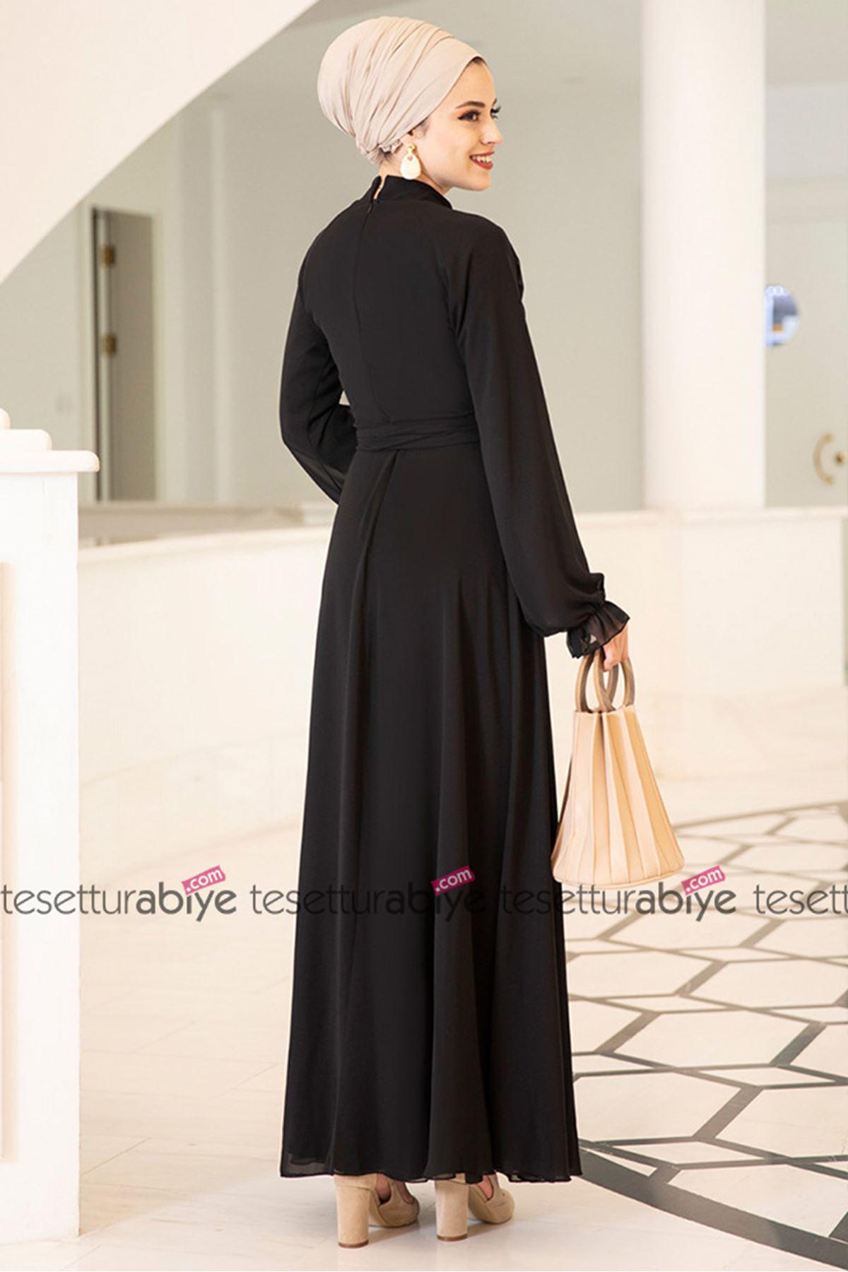 Miraç Elbise Siyah
