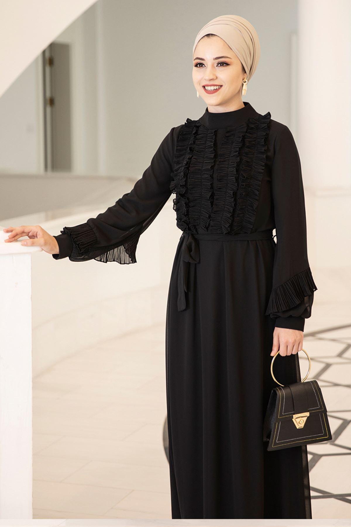 Başak Elbise Siyah