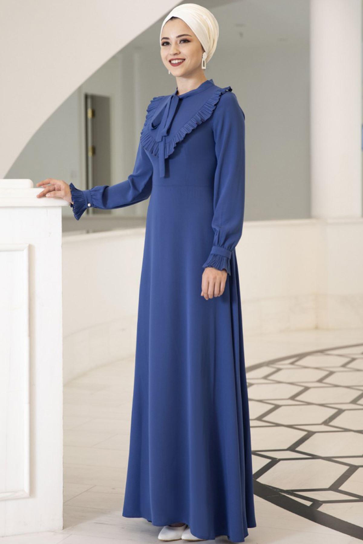 Irmak Elbise İndigo