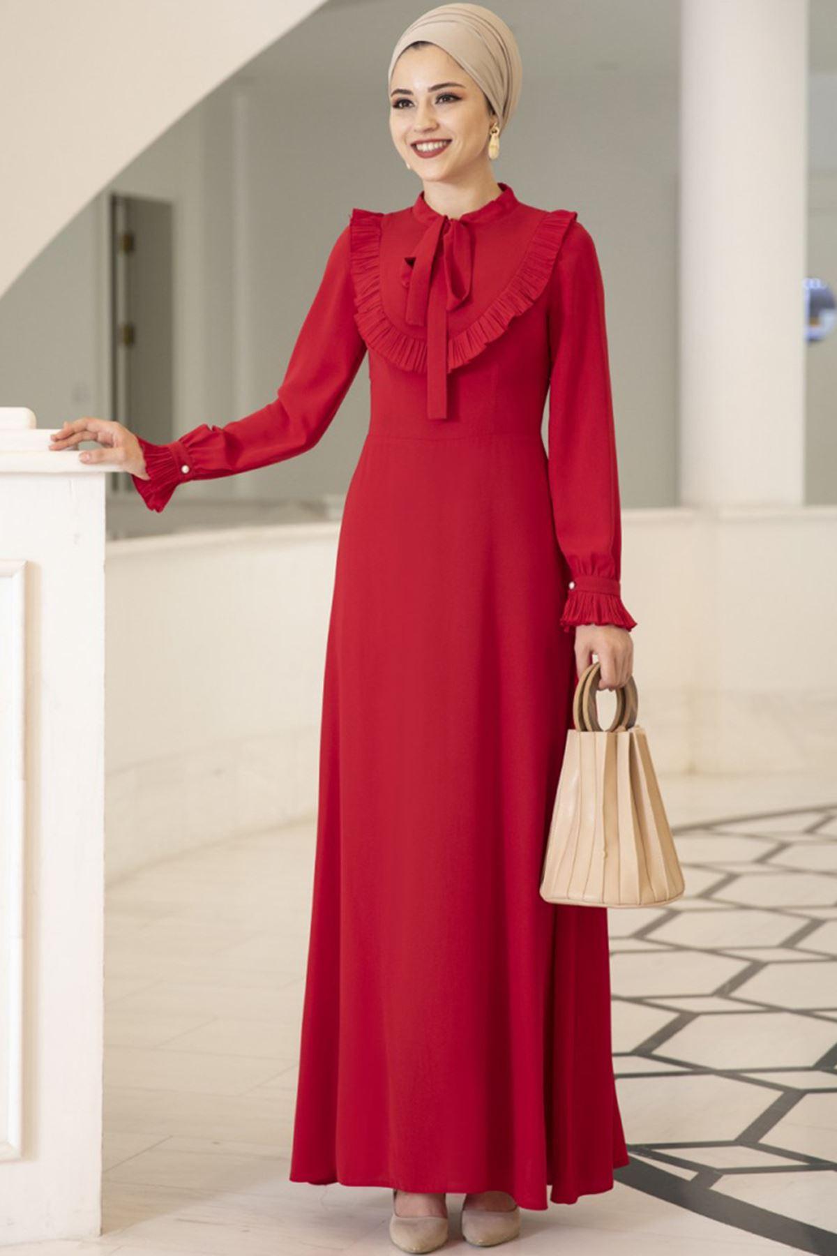 Irmak Elbise Kırmızı