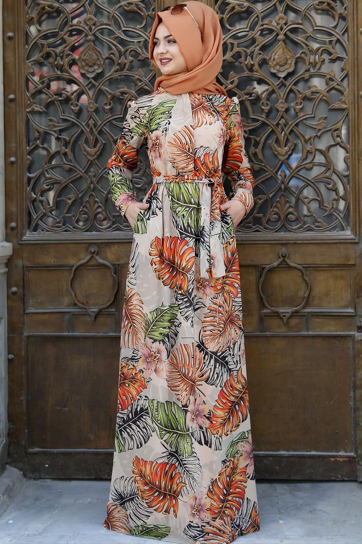 Çınar Elbise Çicekli