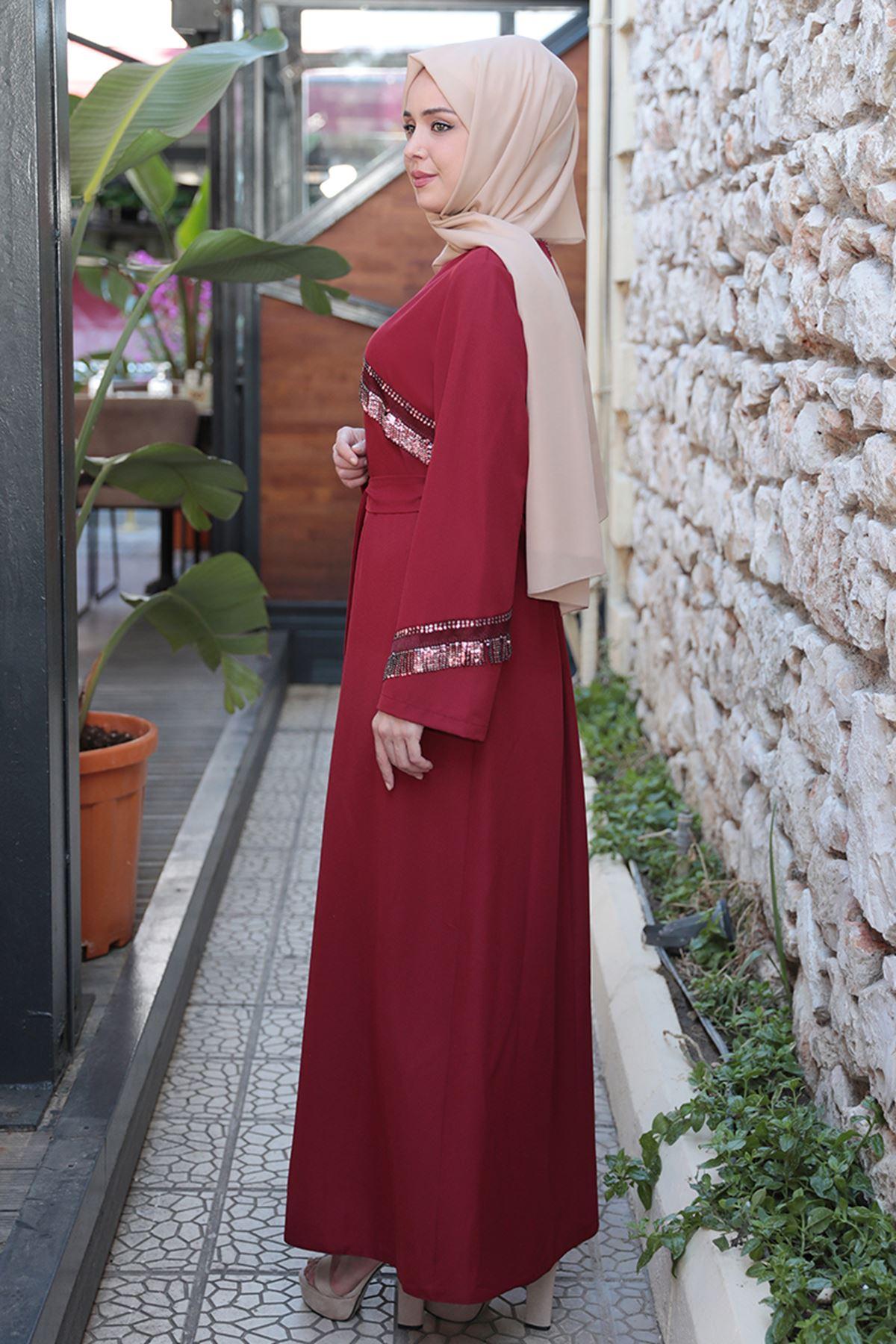 Sezen Elbise Bordo