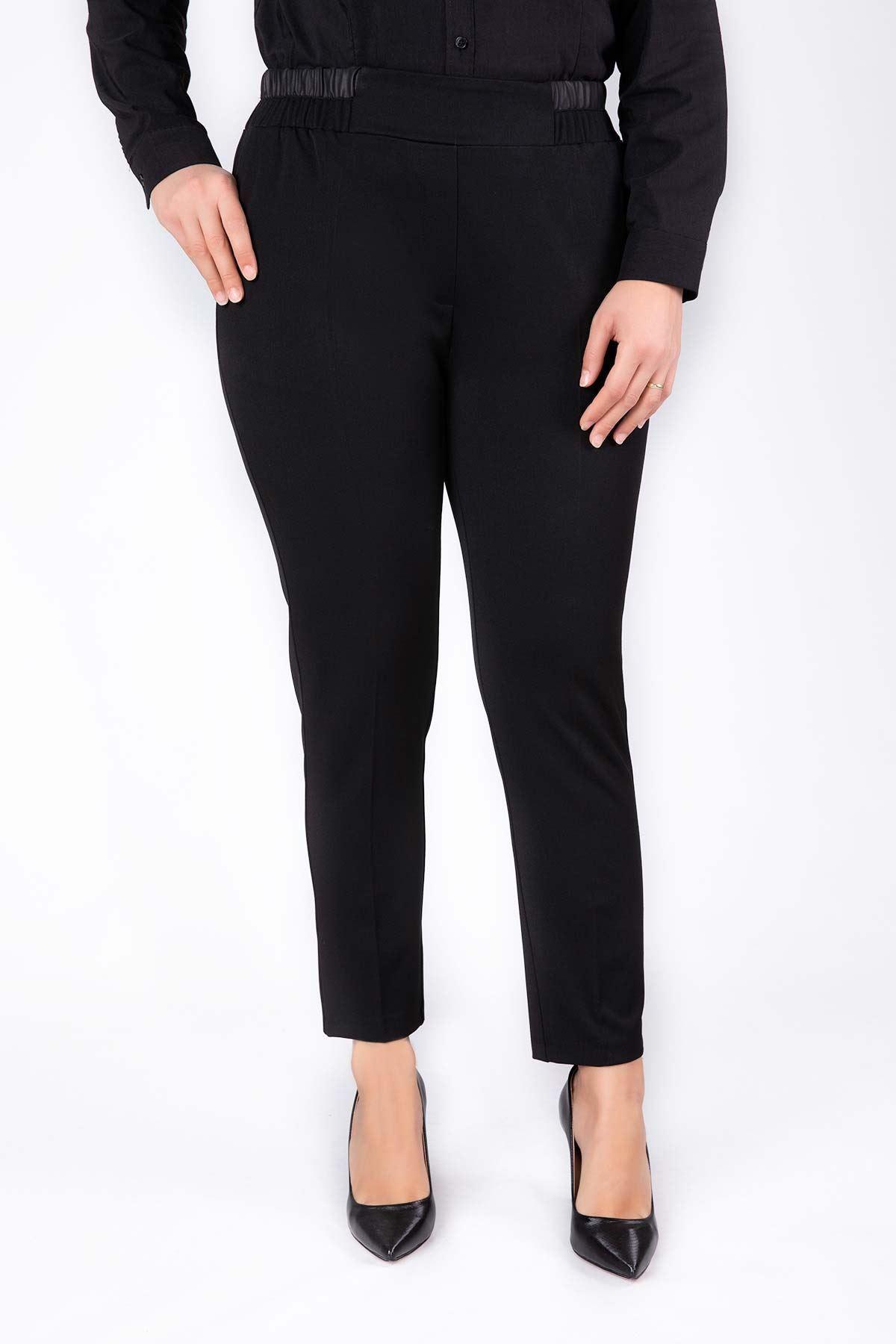 Büyük Beden Pantolon Siyah 2219-03