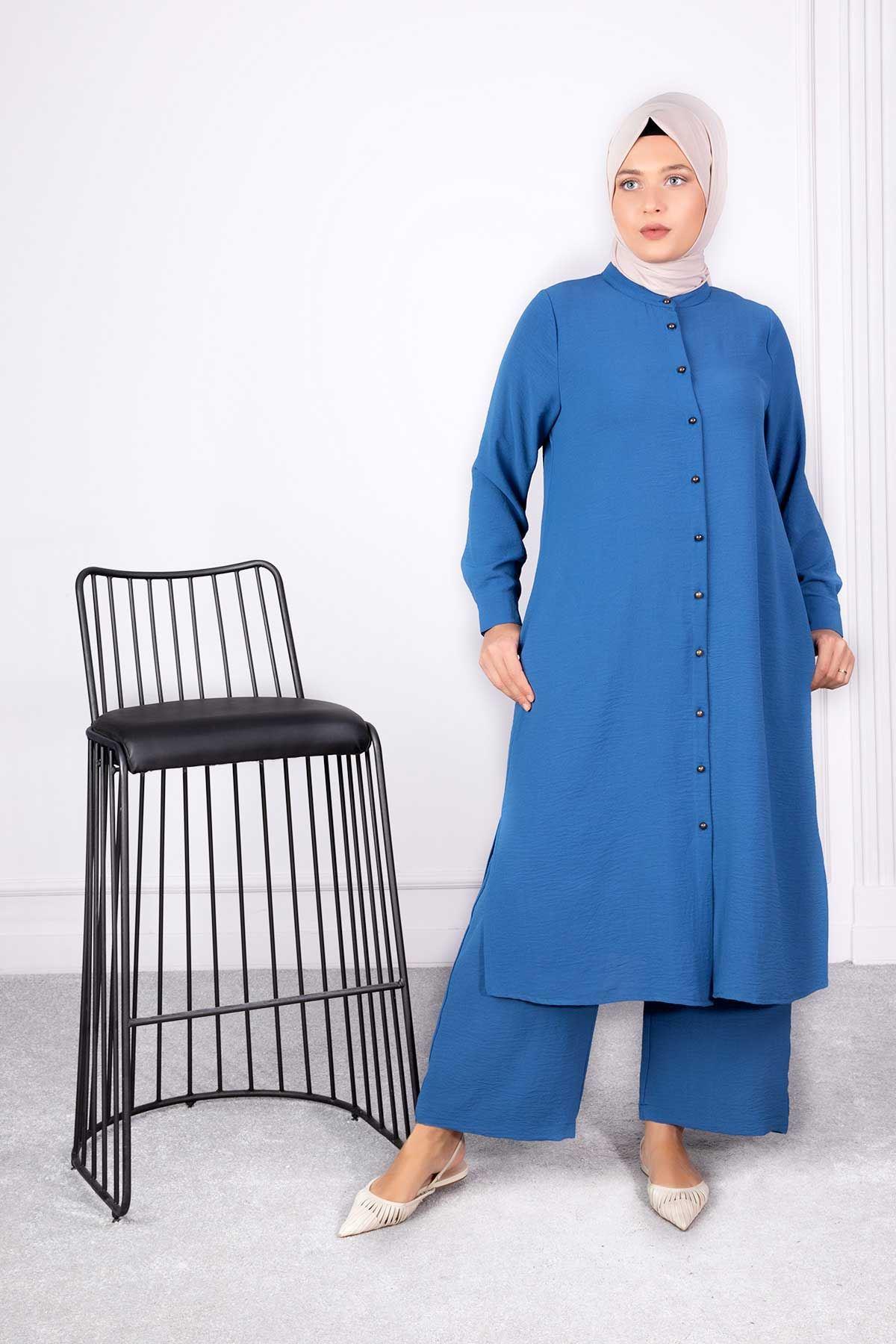 Bedrin Pantolonlu Takım İndigo 38006