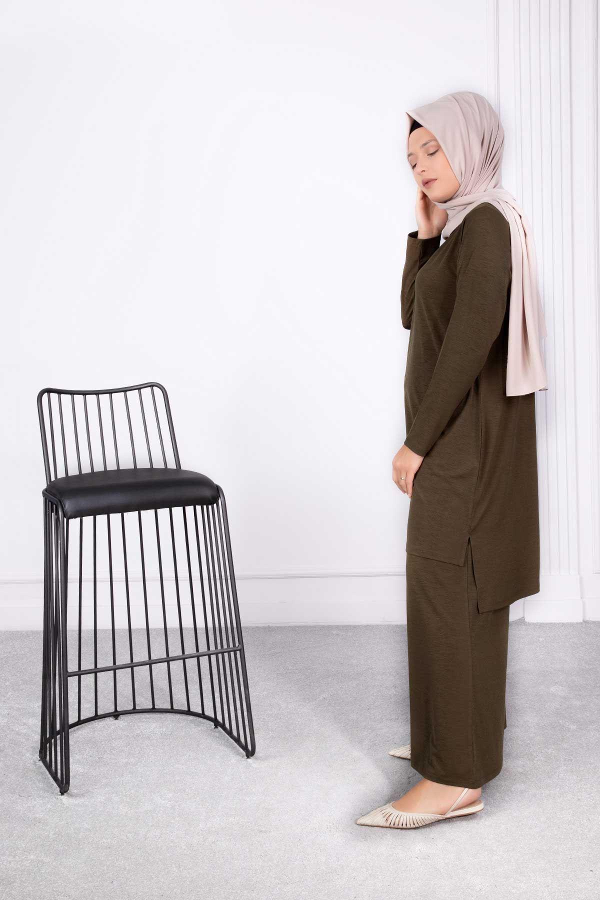Enfal Pantolonlu Takım Haki 35017