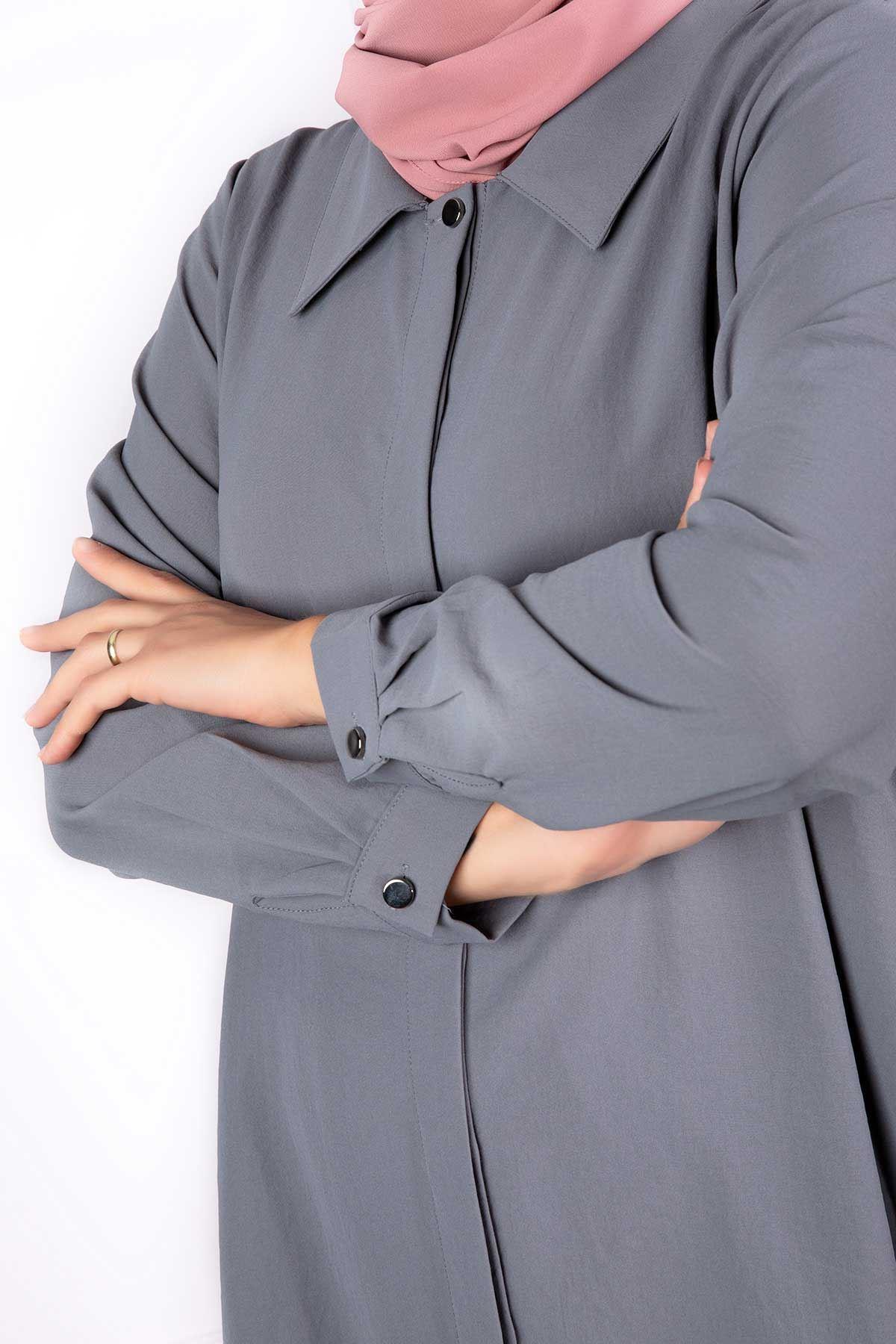 Tuana Pantolonlu Takım Gri 38005