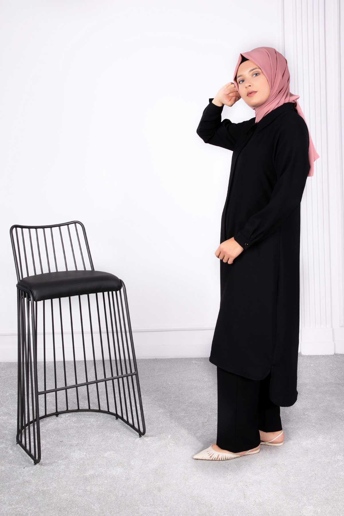 Tuana Pantolonlu Takım Siyah 38005