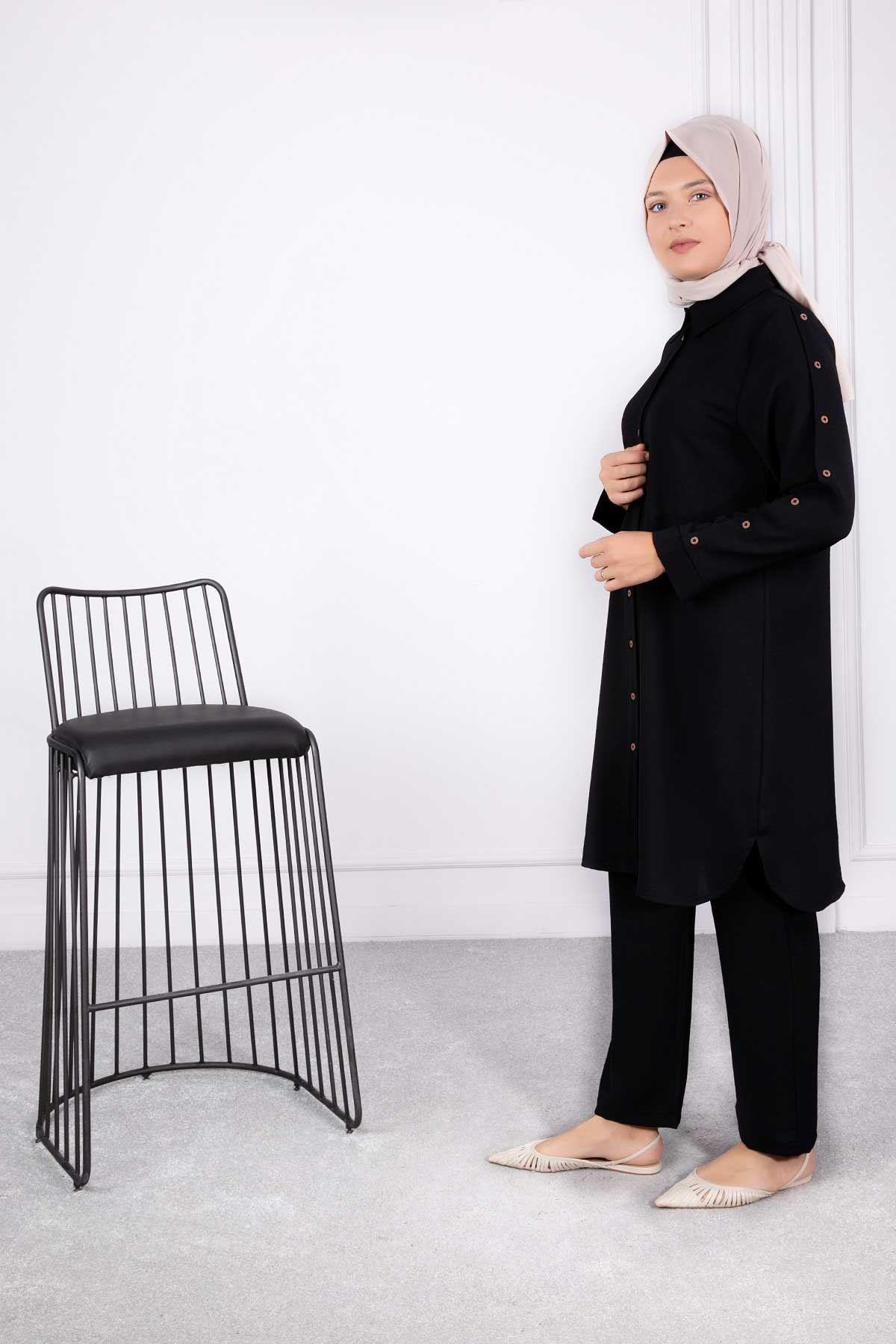 Eftalya Pantolonlu Takım Siyah 38004