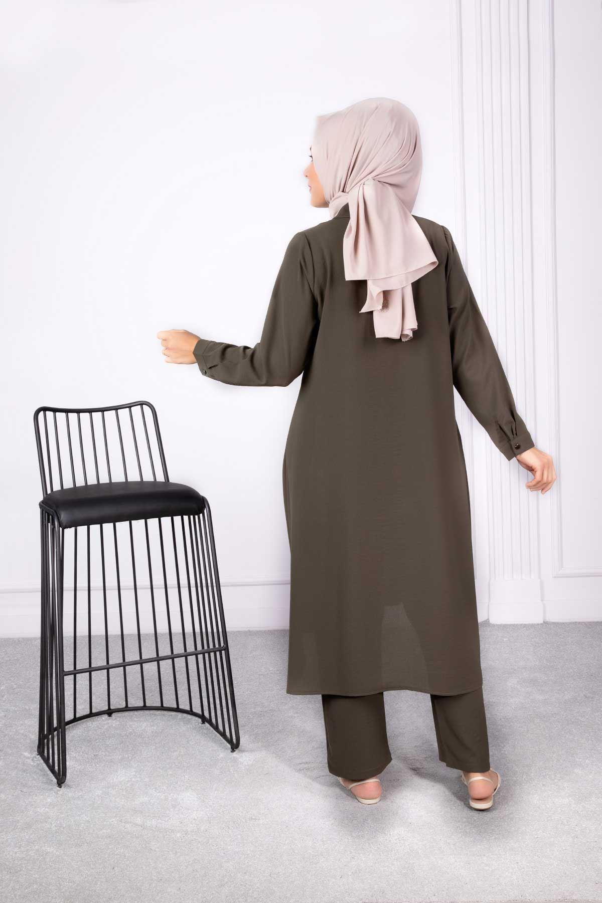 Tuana Pantolonlu Takım Haki 38005