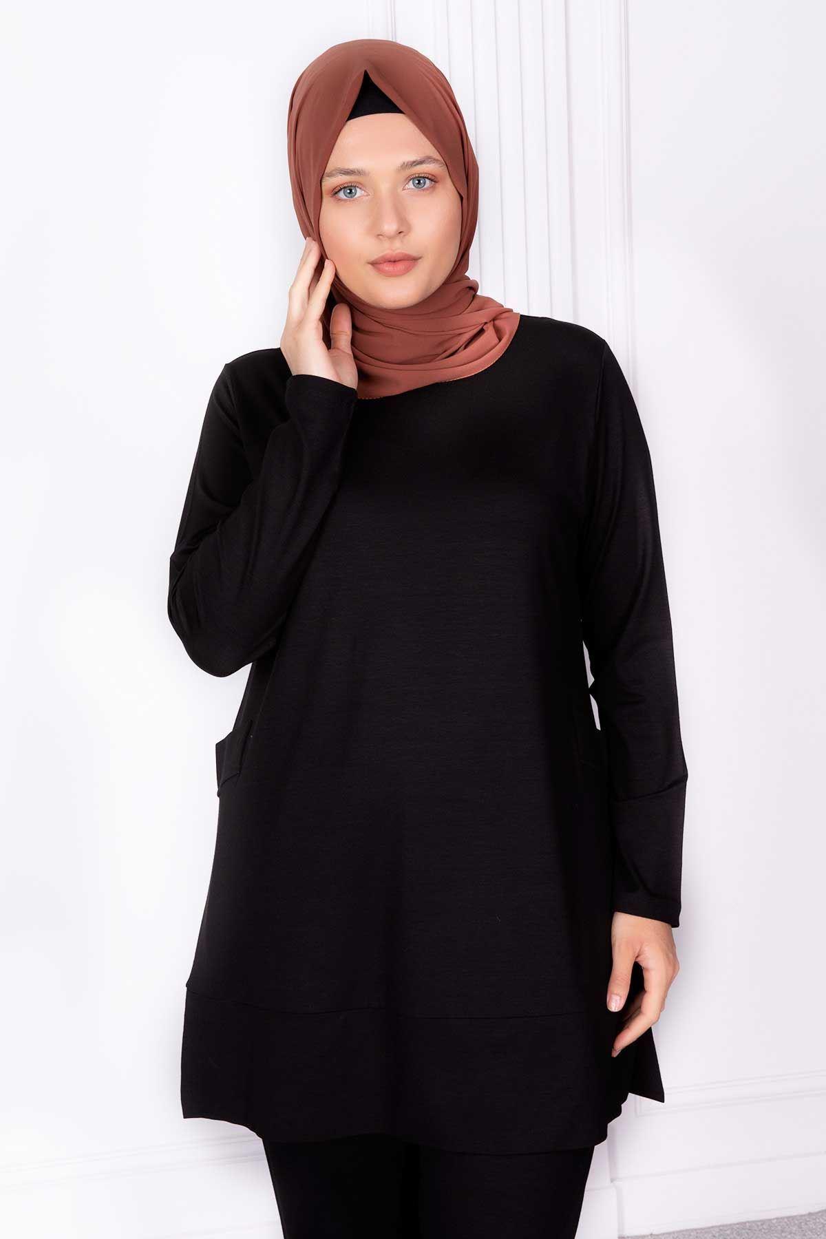 Cansel Pantolonlu Takım Siyah 35013