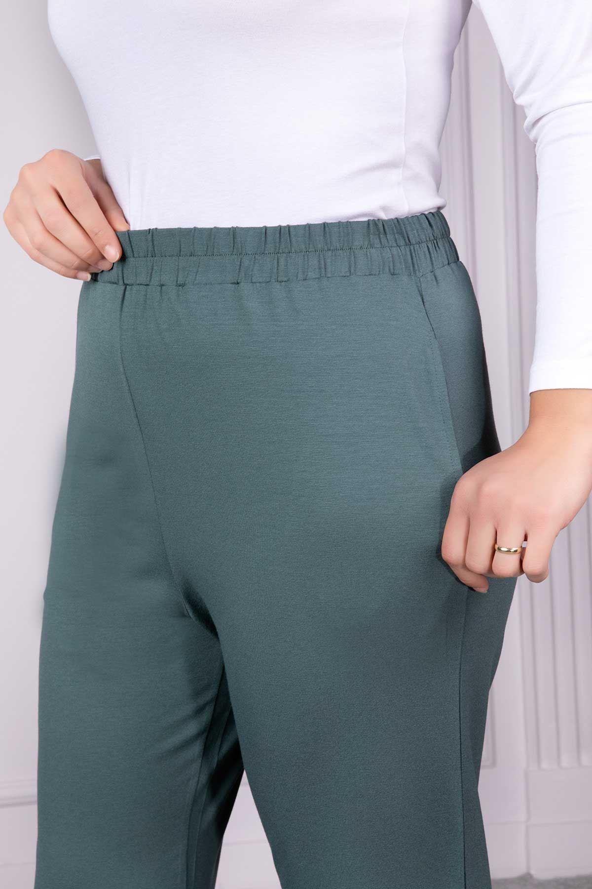 Viskon Bol Paça Pantolon Mint 10003
