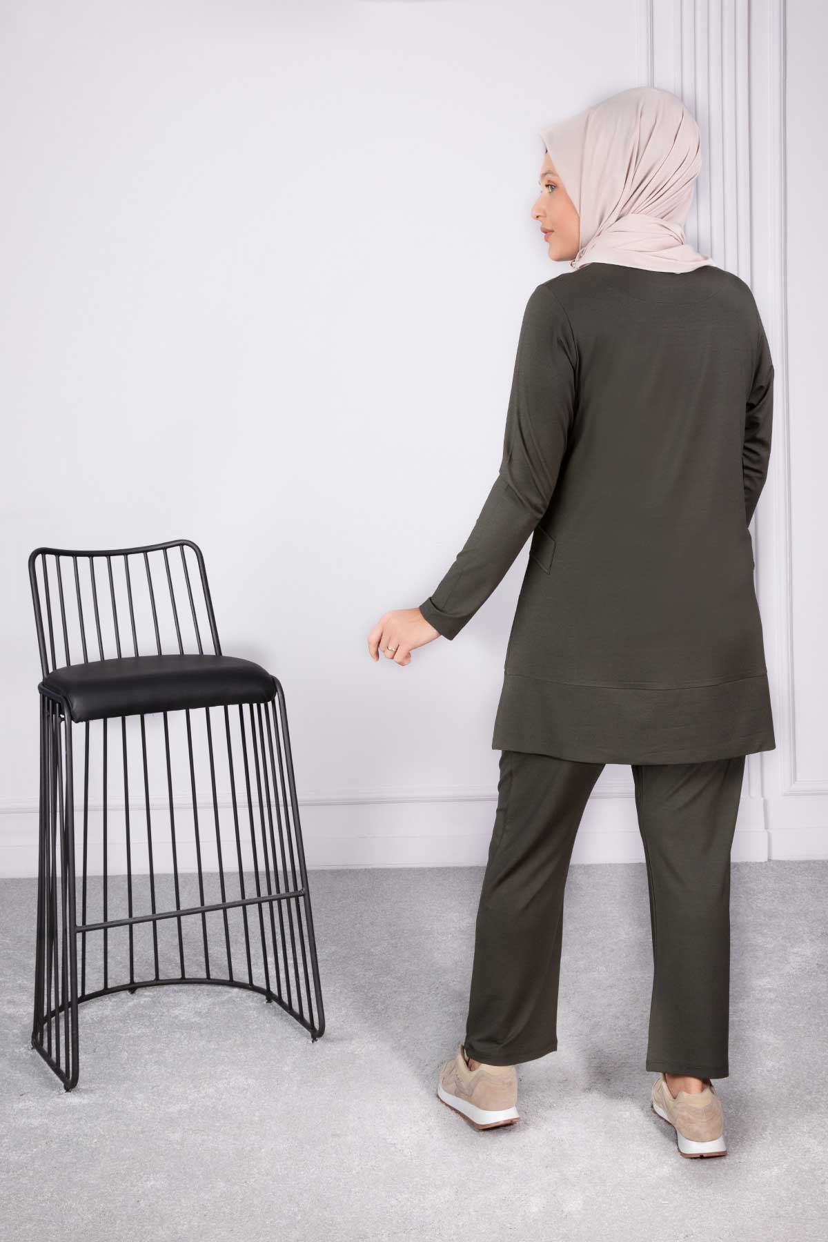 Cansel Pantolonlu Takım Haki 35013