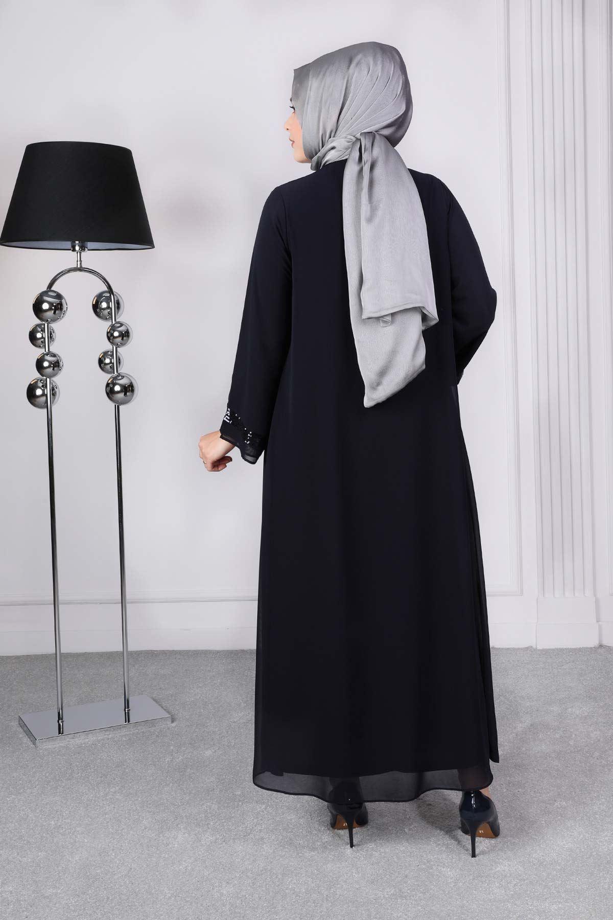 Ferya Abiye Elbise Lacivert 50009