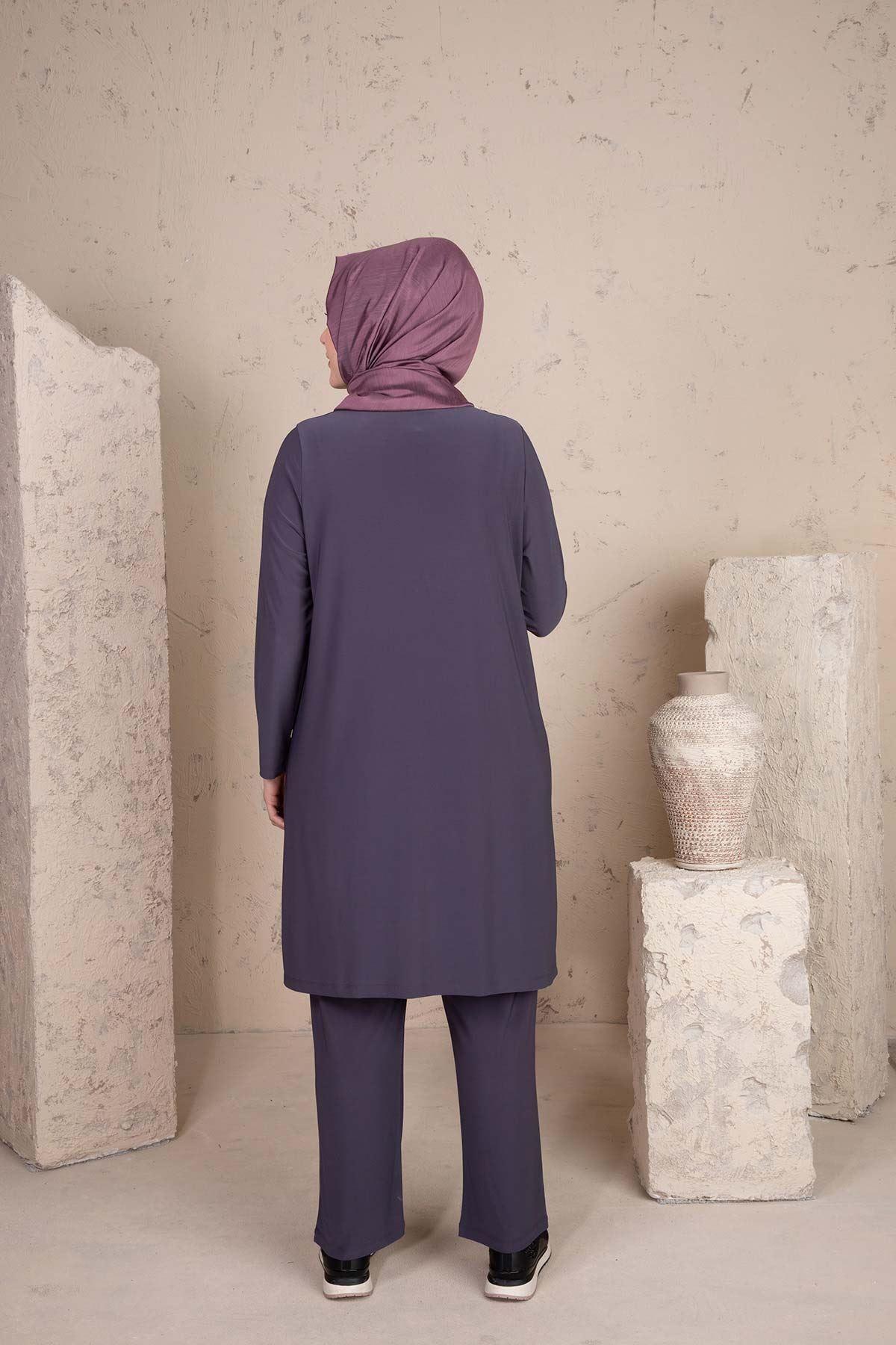 Hamra Pantolonlu Takım Füme 35005